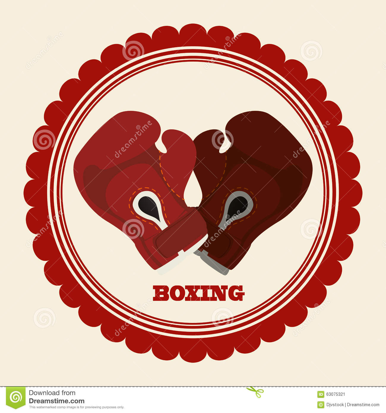 Download Conception De Sport De Boxe Illustration de Vecteur - Illustration du illustration, vecteur: 63075321