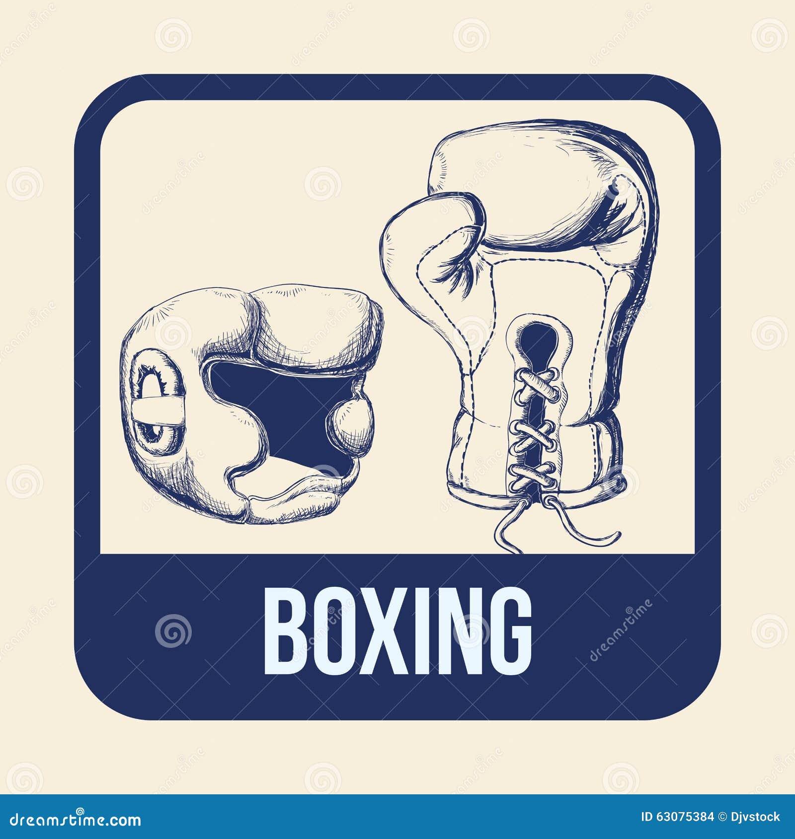 Download Conception De Sport De Boxe Illustration de Vecteur - Illustration du lifestyle, boxe: 63075384