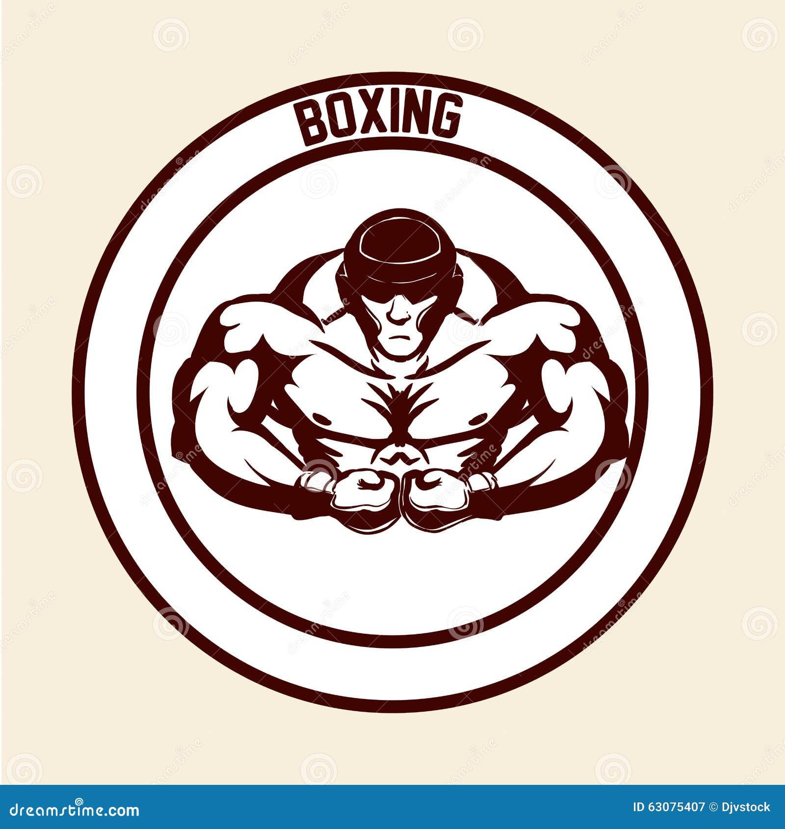 Download Conception De Sport De Boxe Illustration de Vecteur - Illustration du conflit, force: 63075407
