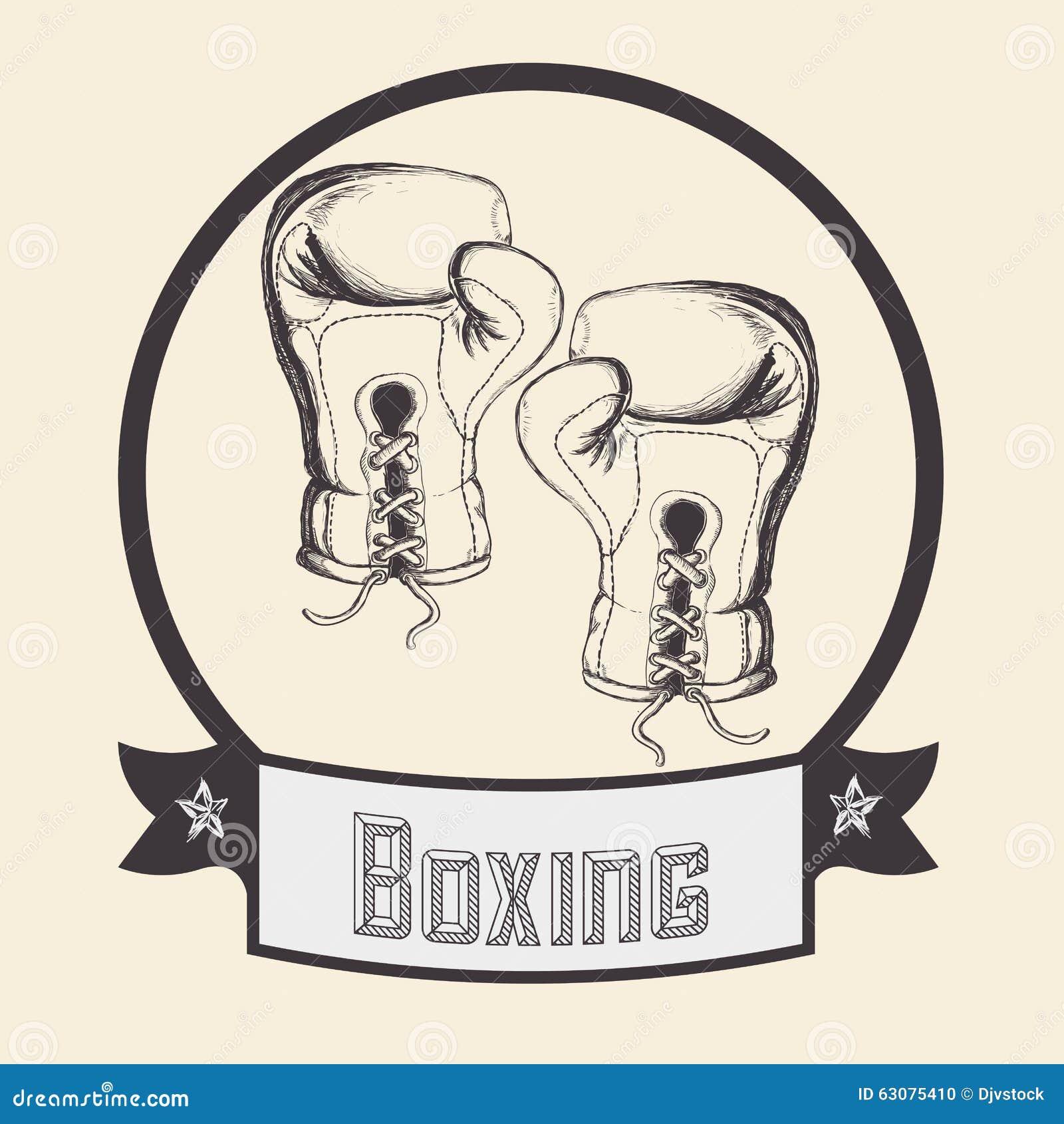 Download Conception De Sport De Boxe Illustration de Vecteur - Illustration du concurrentiel, formation: 63075410