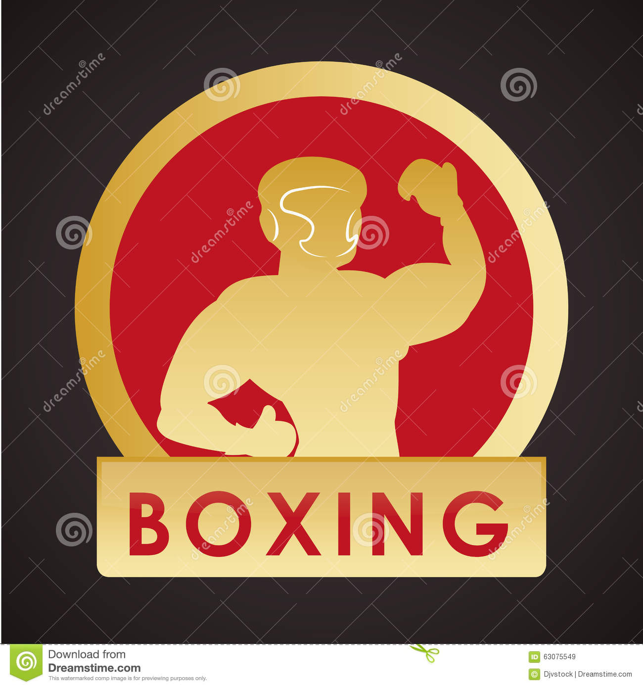 Download Conception De Sport De Boxe Illustration de Vecteur - Illustration du actif, vecteur: 63075549