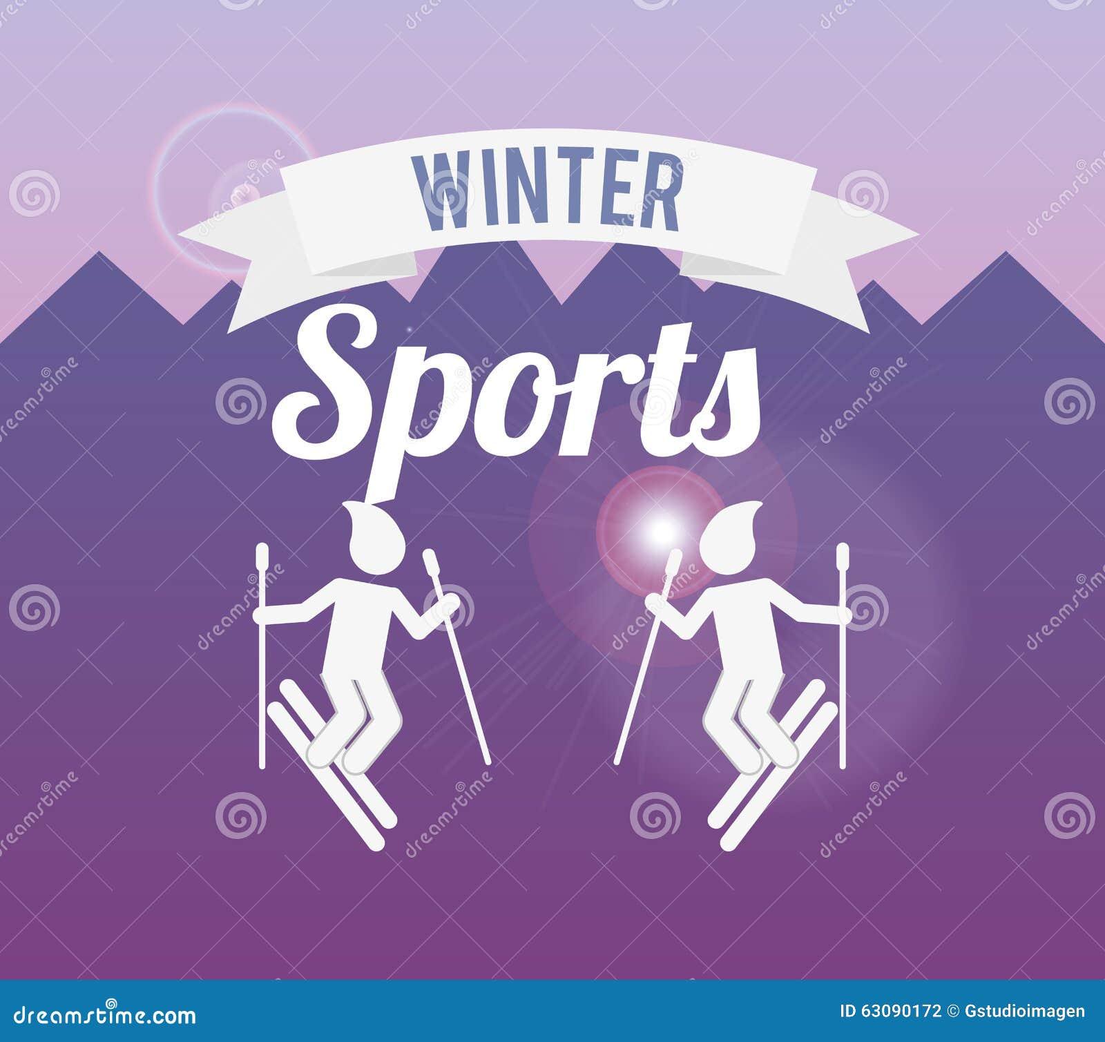 Download Conception De Sports D'hiver Illustration de Vecteur - Illustration du vacances, neige: 63090172