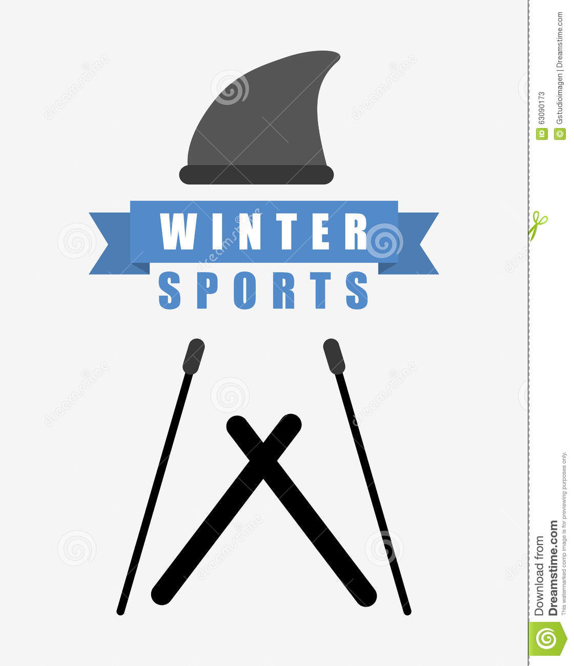Download Conception De Sports D'hiver Illustration de Vecteur - Illustration du dessin, sports: 63090173