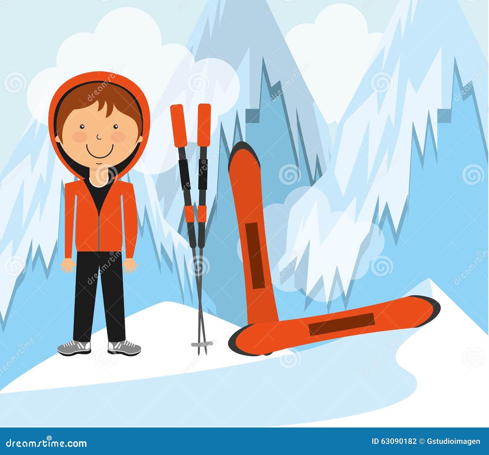Download Conception De Sports D'hiver Illustration de Vecteur - Illustration du matériel, vacances: 63090182