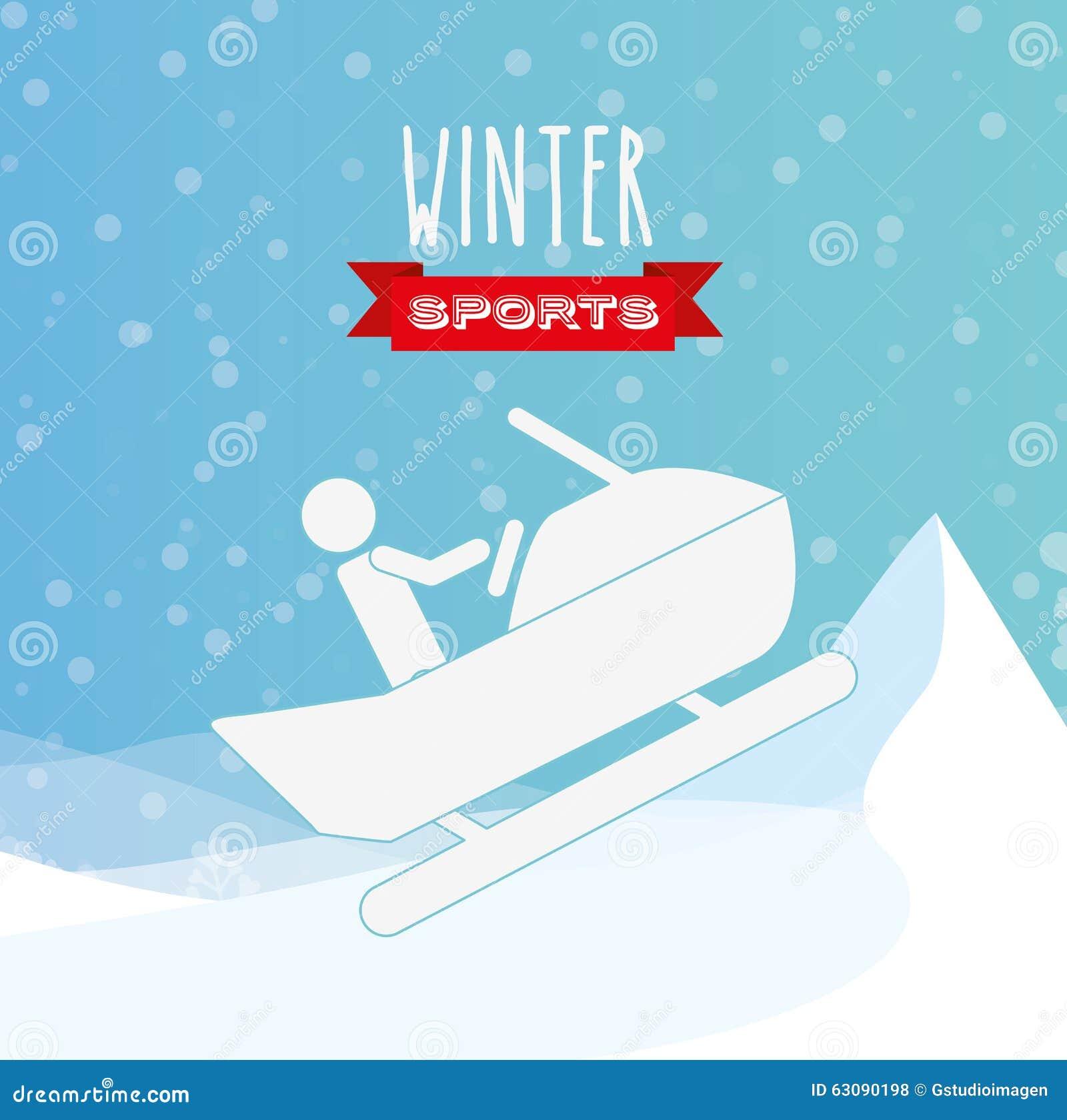 Download Conception De Sports D'hiver Illustration de Vecteur - Illustration du vacances, fond: 63090198