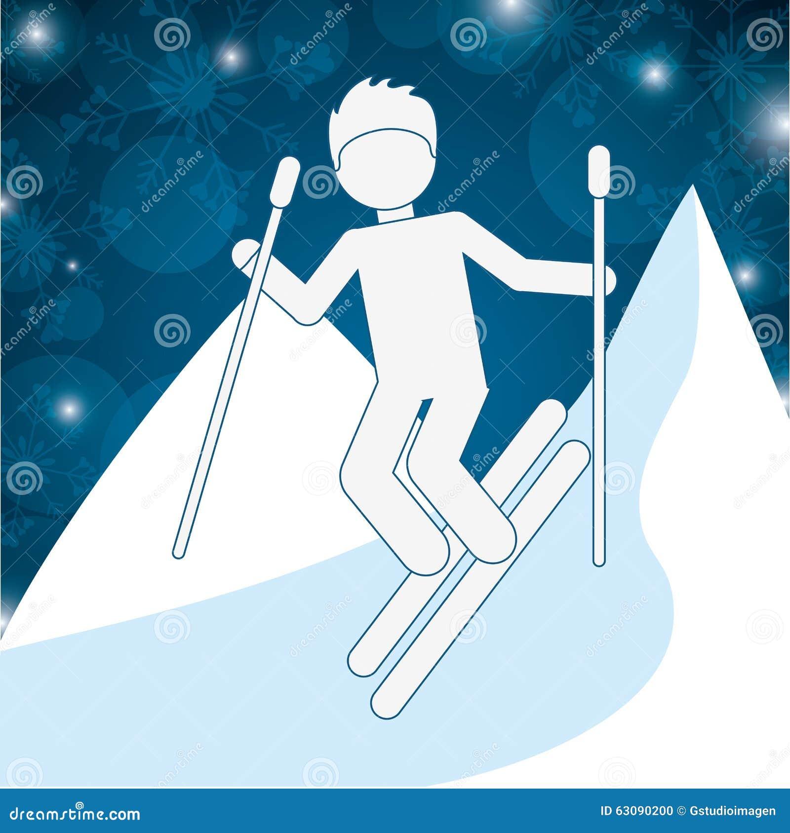 Download Conception De Sports D'hiver Illustration Stock - Illustration du positionnement, figure: 63090200