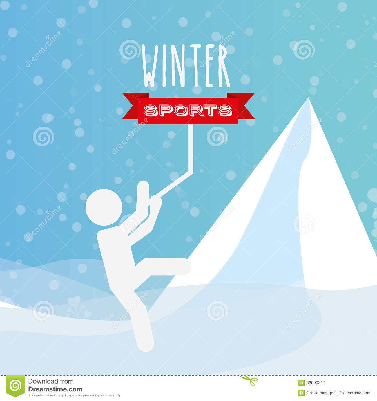Download Conception De Sports D'hiver Illustration de Vecteur - Illustration du pictogramme, dessin: 63090217