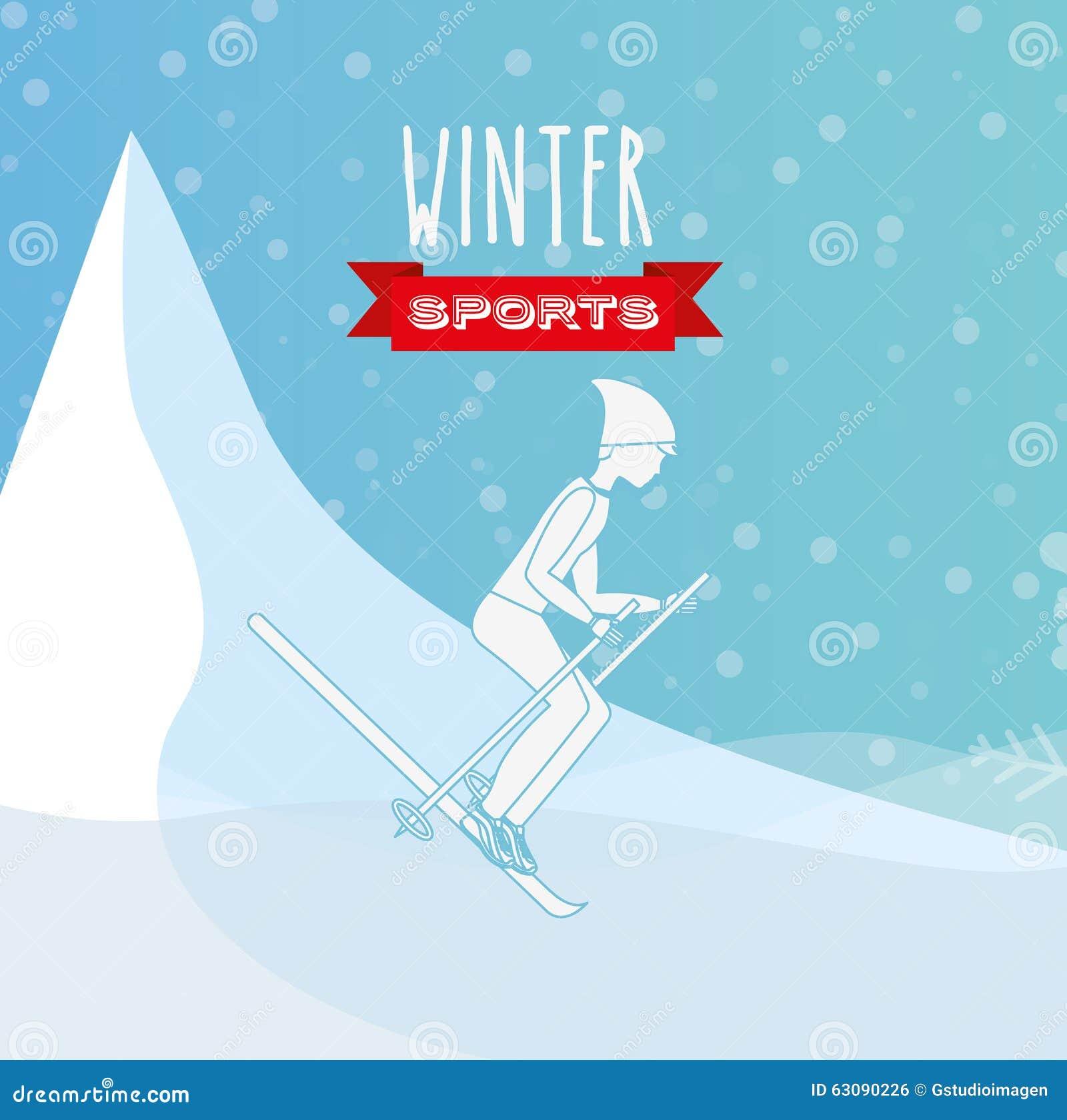 Download Conception De Sports D'hiver Illustration de Vecteur - Illustration du illustration, saison: 63090226