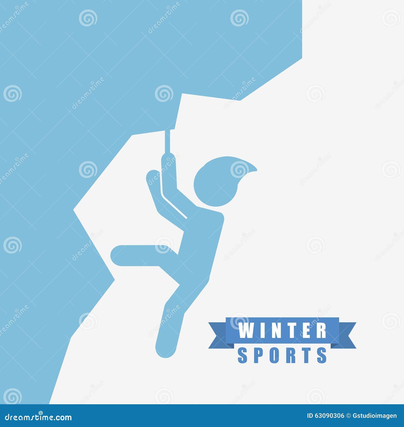 Download Conception De Sports D'hiver Illustration de Vecteur - Illustration du graphisme, montagne: 63090306