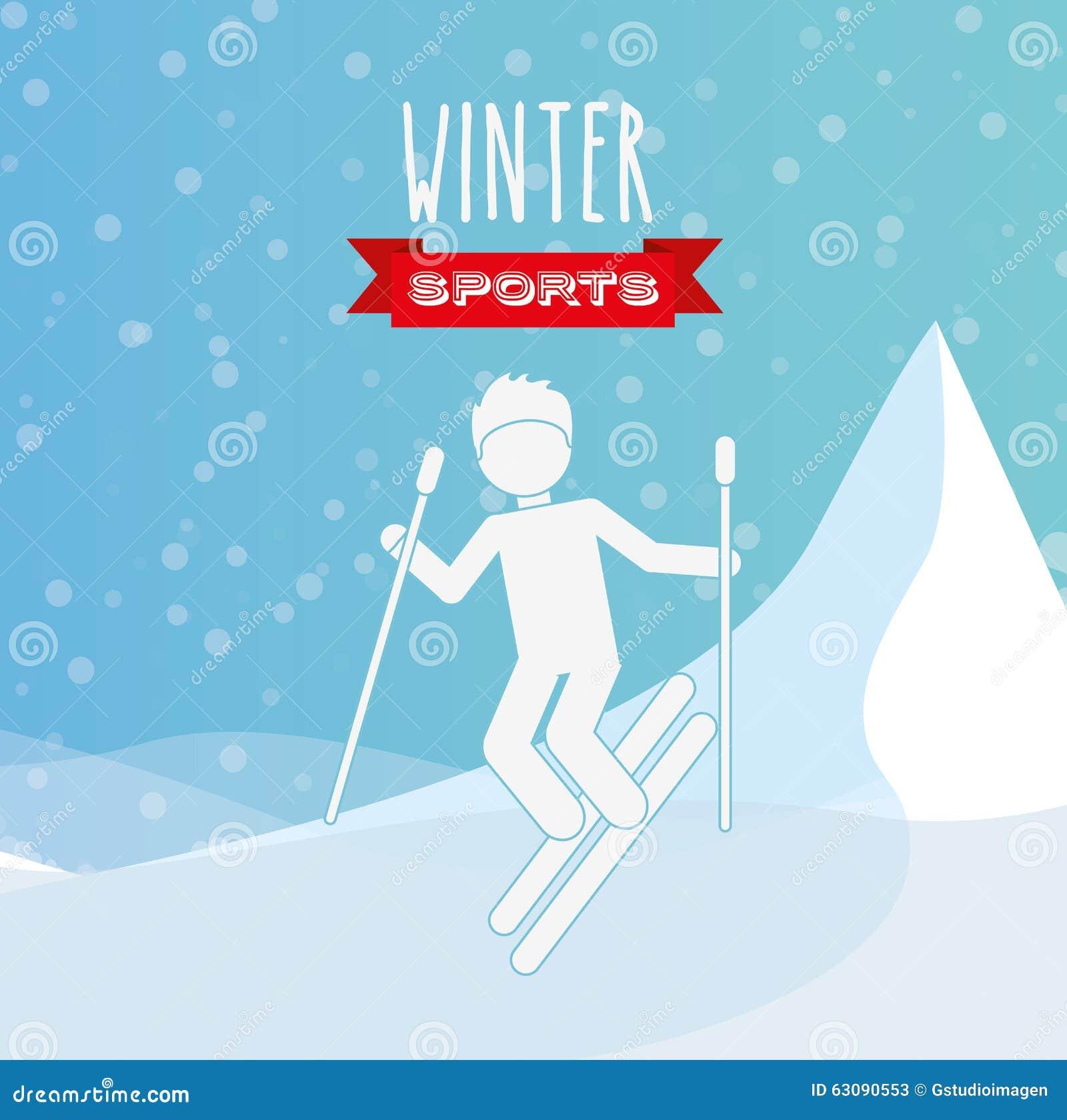Download Conception De Sports D'hiver Illustration de Vecteur - Illustration du glace, saison: 63090553