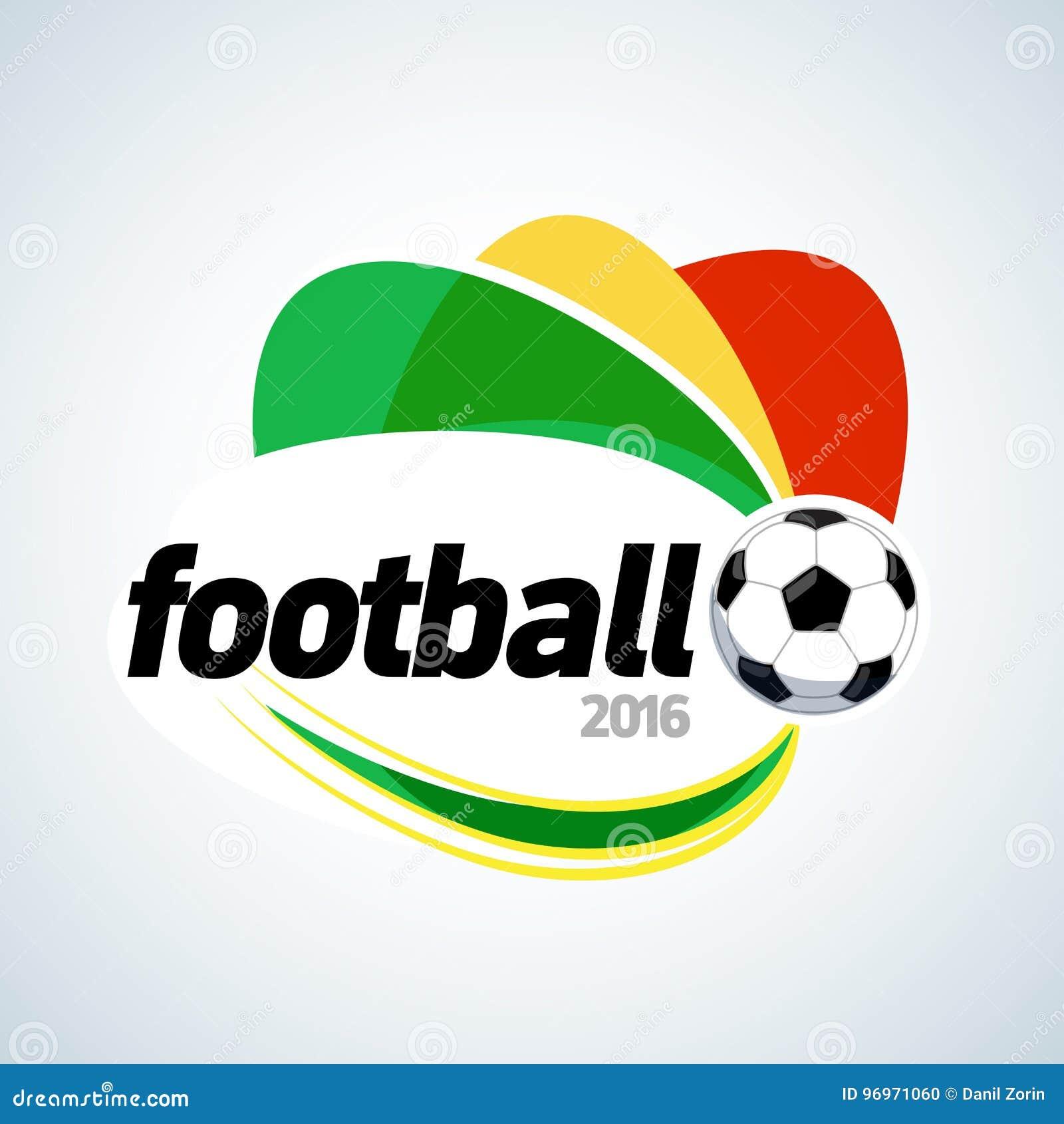 Conception 2016 de T-shirt d habillement du football Calibre de conception graphique de bannière du football Illustration d isole
