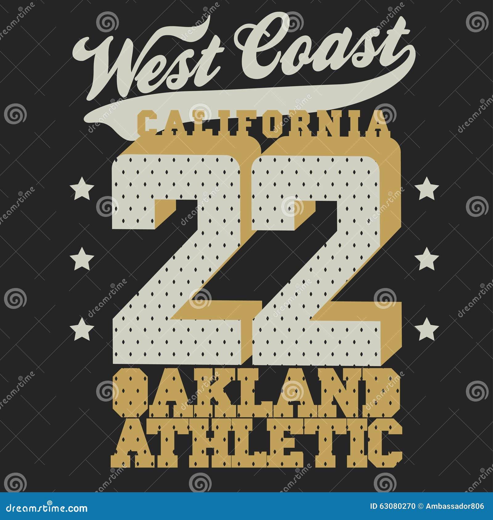 Download Conception De T-shirt De Sport De La Californie Illustration de Vecteur - Illustration du ball, impression: 63080270