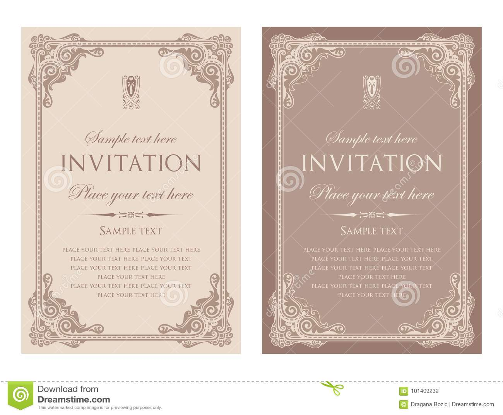 Conception De Vecteur De Carte D Invitation Style De Vintage