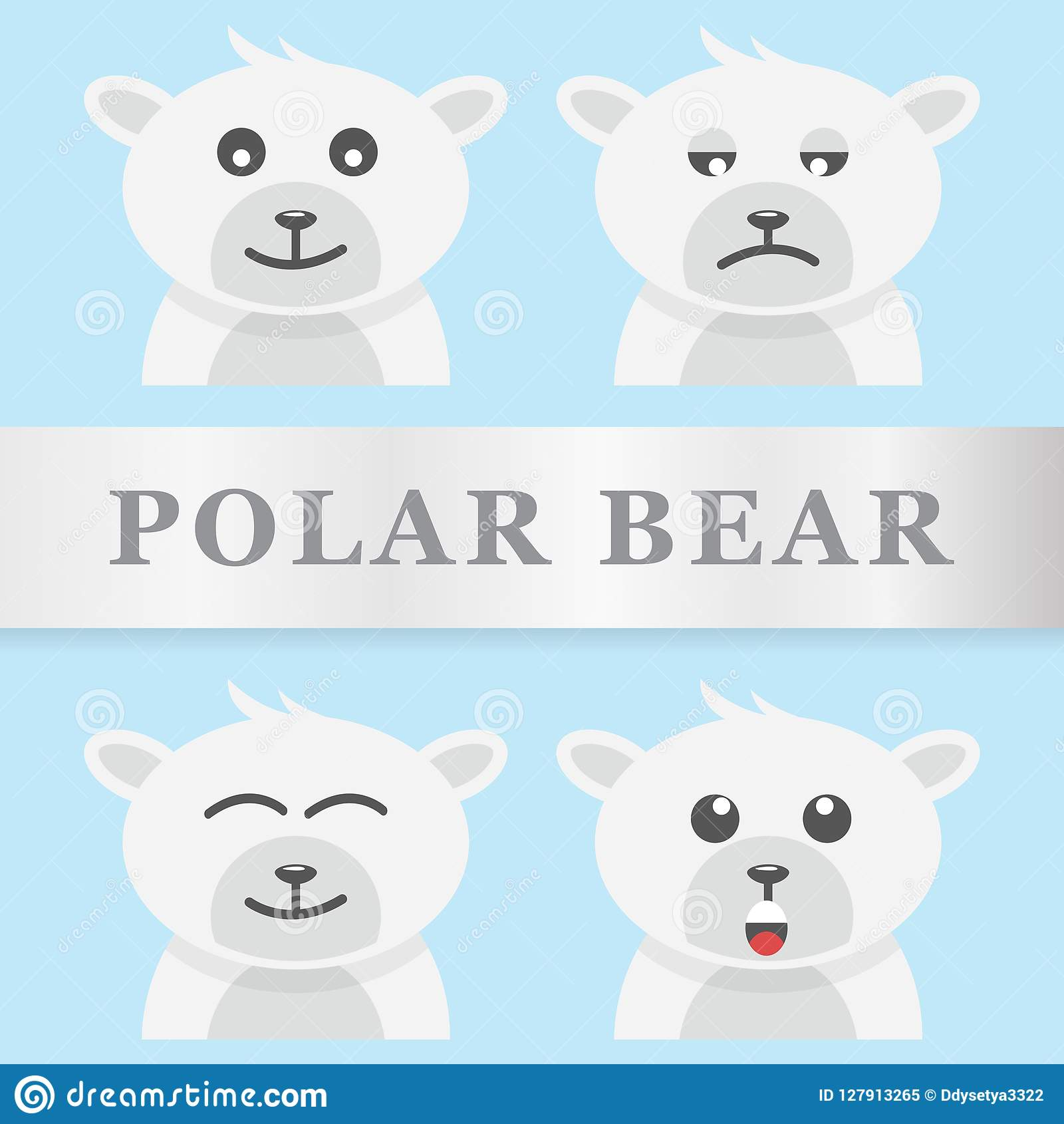 Conception de vecteur d ours blanc