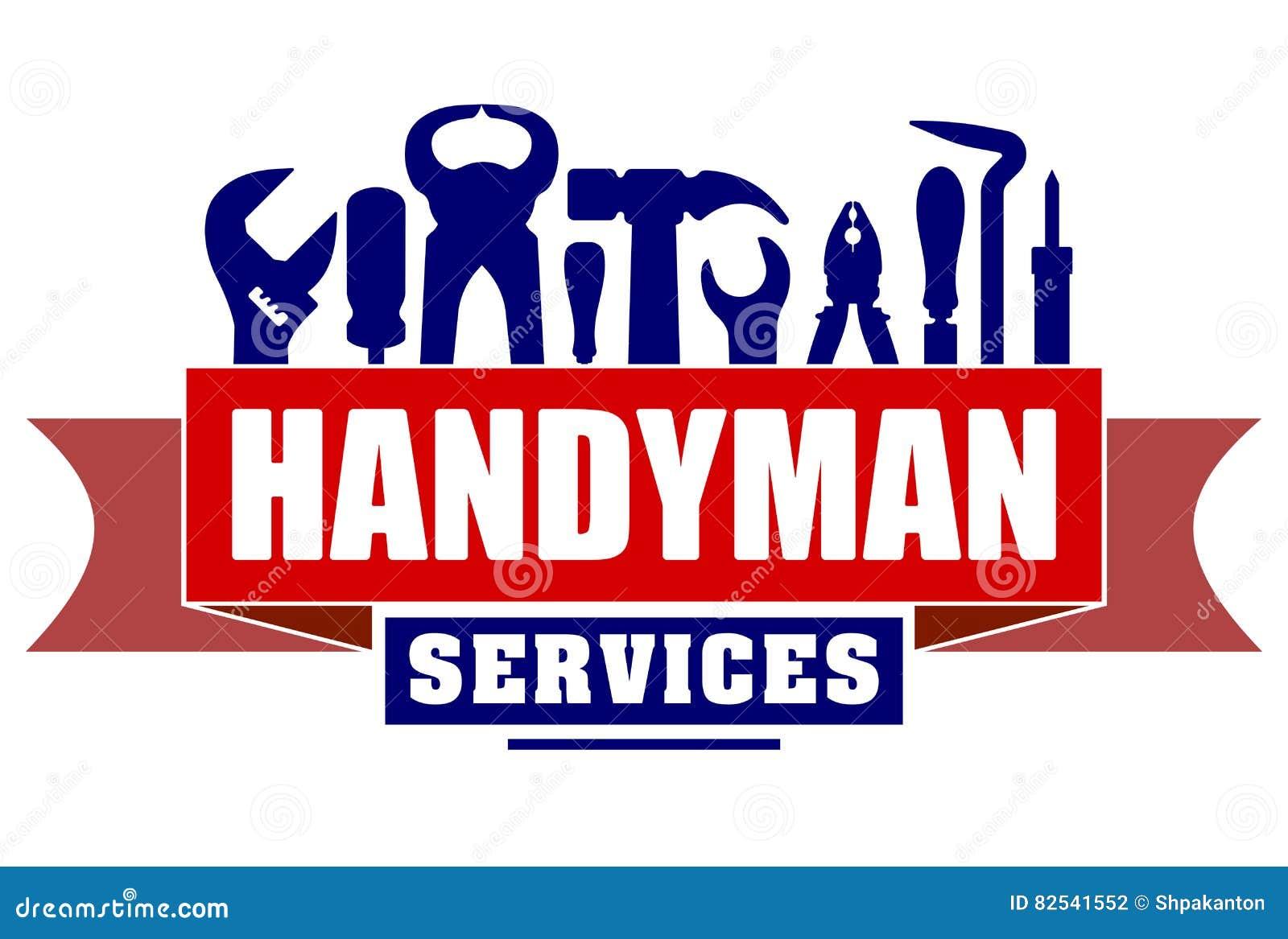 Conception de vecteur de services de bricoleur pour votre logo ou emblème avec le rouge