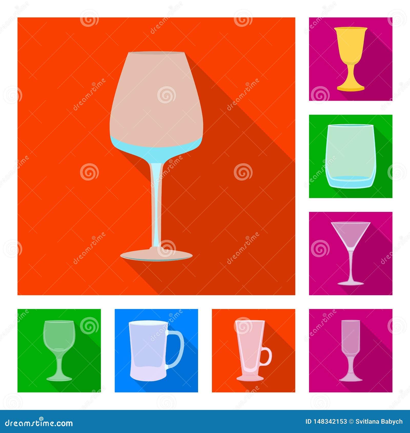 Conception de vecteur des boissons et du signe de restaurant Placez des boissons et de l ic?ne de vecteur de c?l?bration pour des