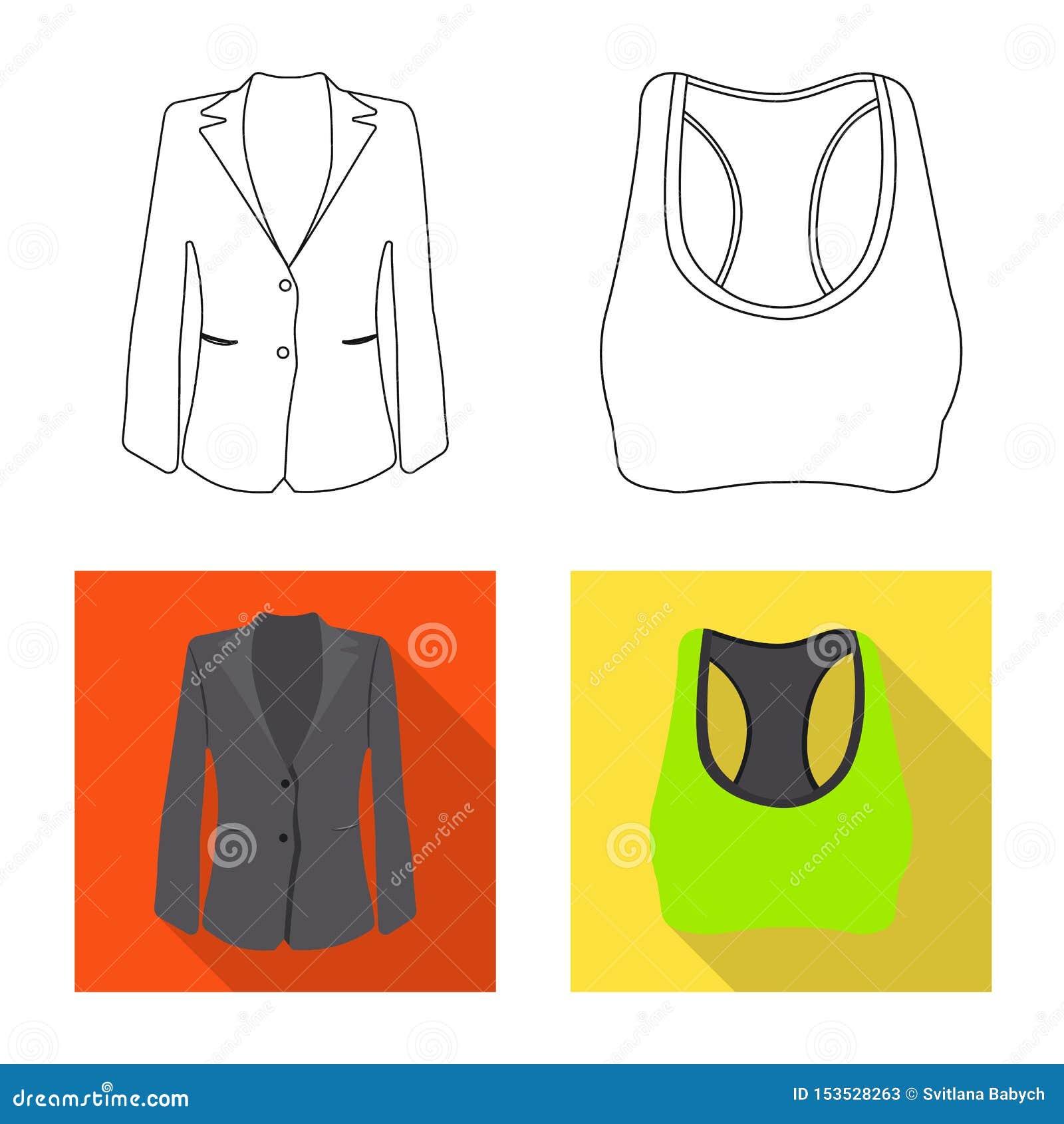 Conception de vecteur de logo de femme et d habillement Ensemble de femme et d illustration courante de vecteur d usage