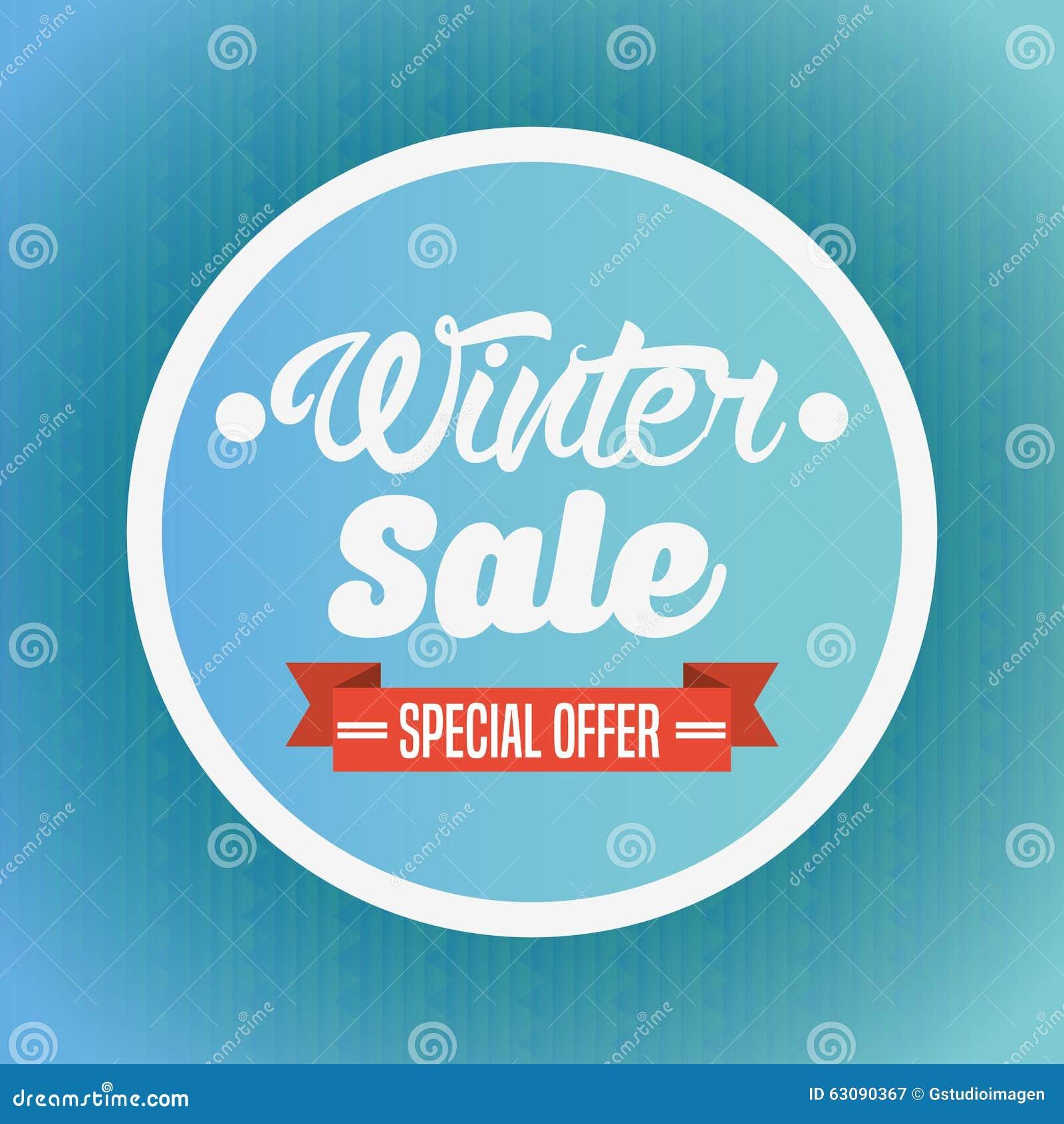 Download Conception De Vente D'hiver Illustration de Vecteur - Illustration du vente, escompte: 63090367