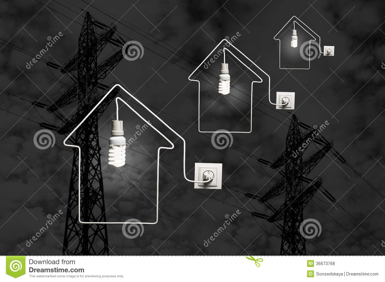Conception Of Electric Power Royalty Free Stock Photos