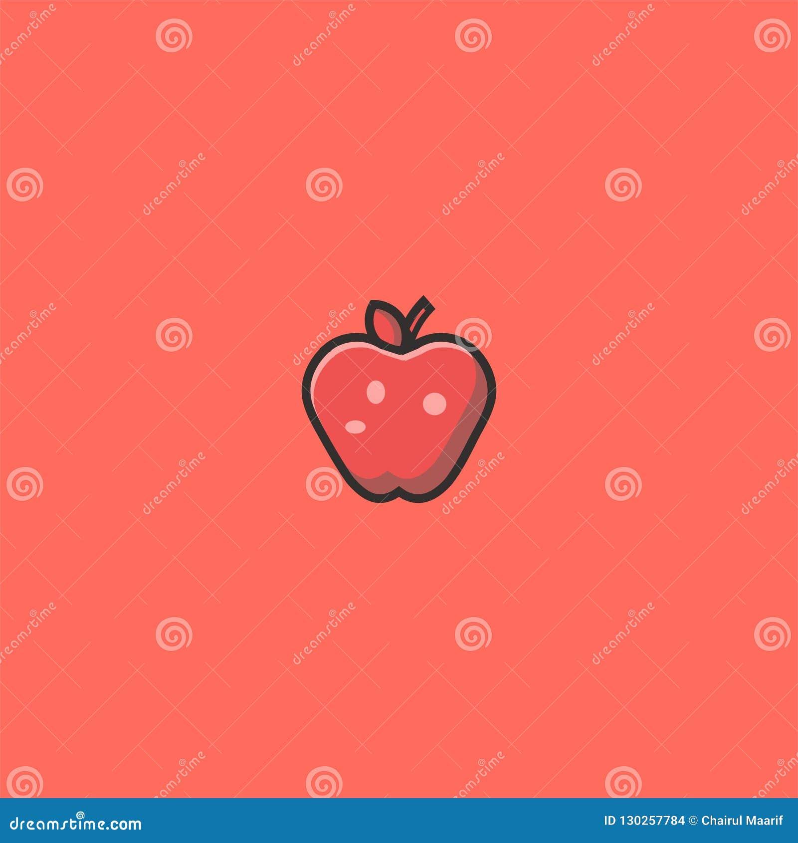 Conception et illustration fraîches de logo d Apple calibre de vecteur d icône de Dan de symbole