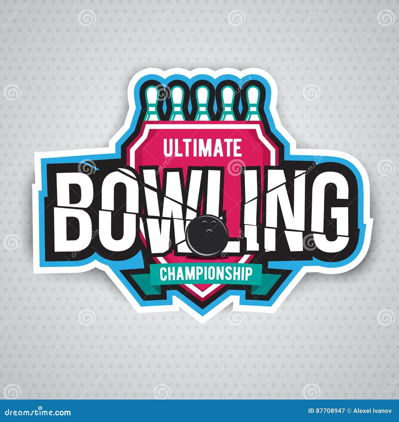 Conception finale de logo de chanpionship de bowling