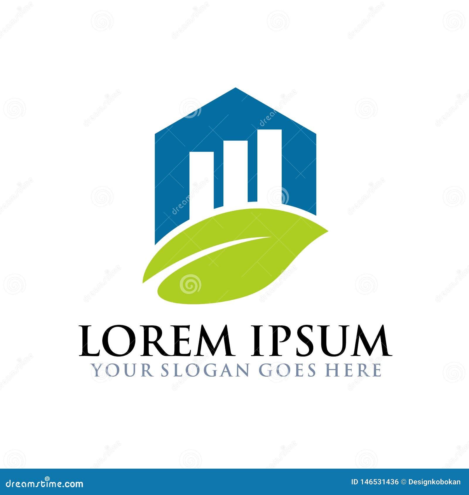 Conception financière naturelle millénaire de logo d affaires