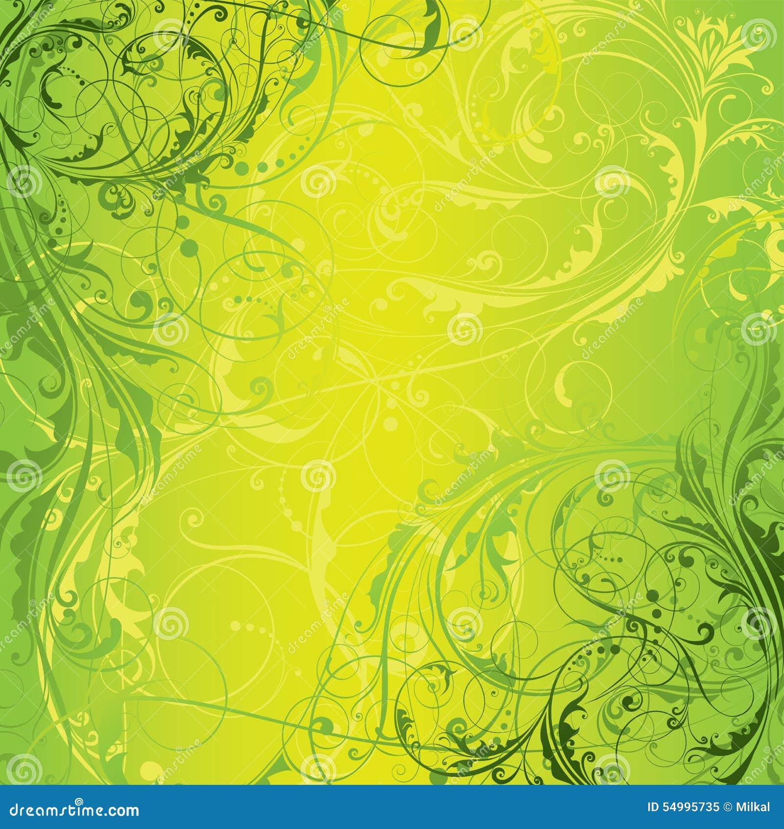 Conception florale verte de fond
