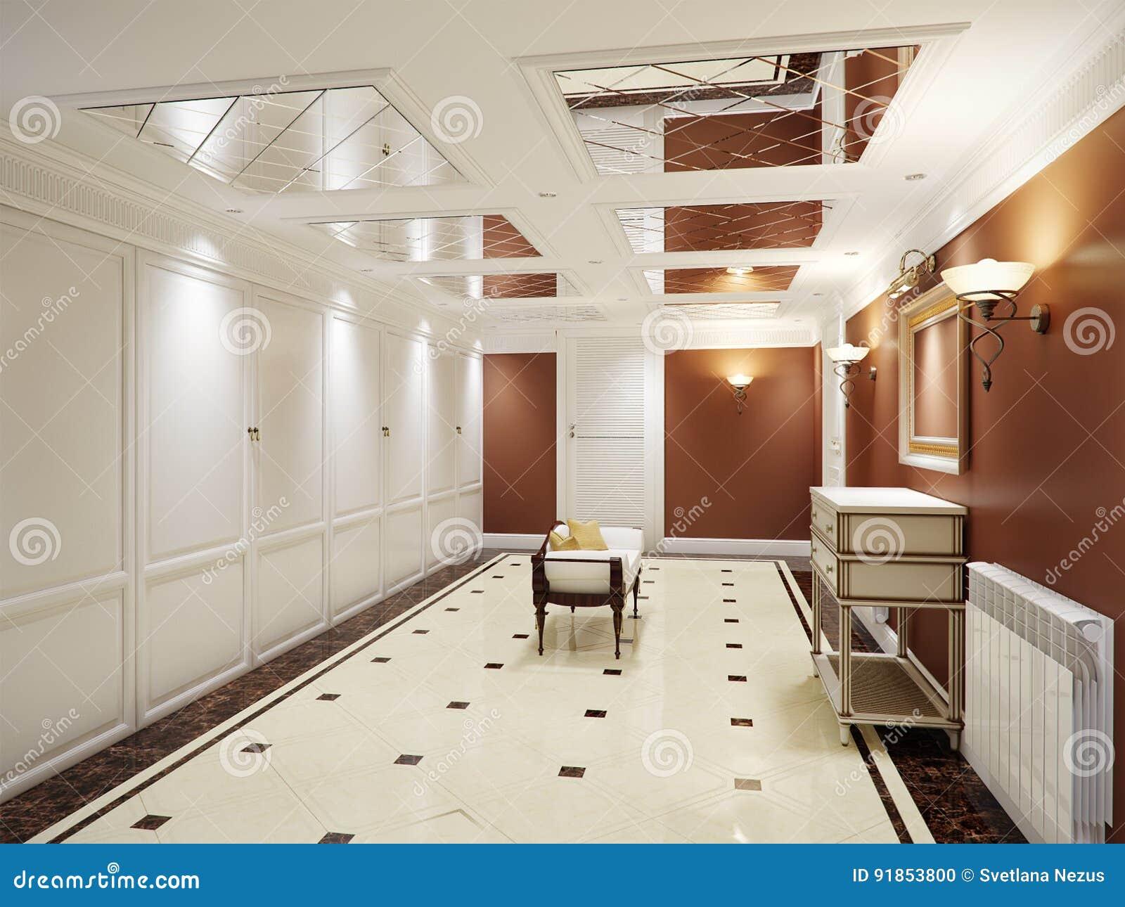 5765ef8cdff9 Conception Intérieure élégante De Hall Classique Et Luxueux ...