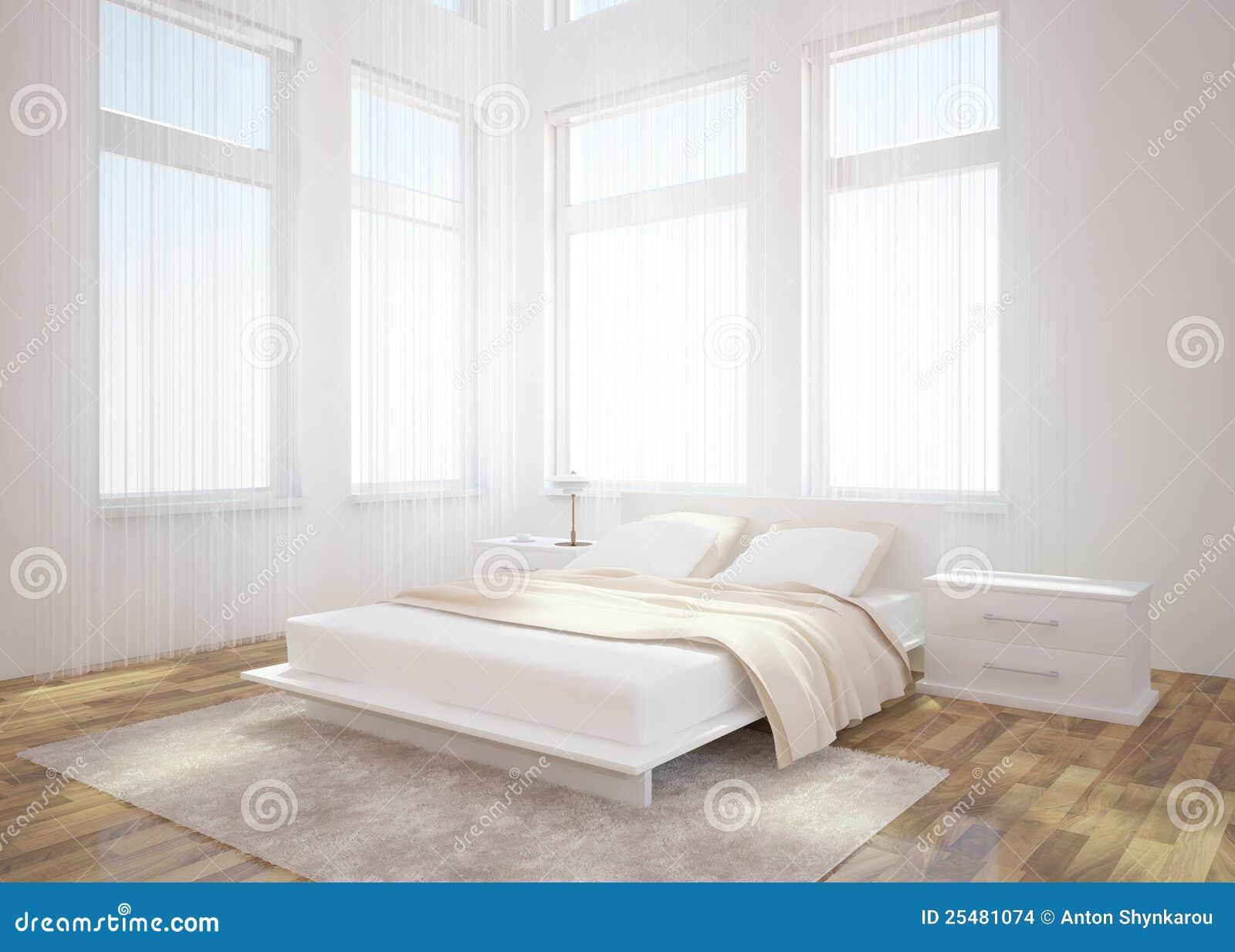Conception int rieure de chambre coucher blanche images for Achat chambre a coucher
