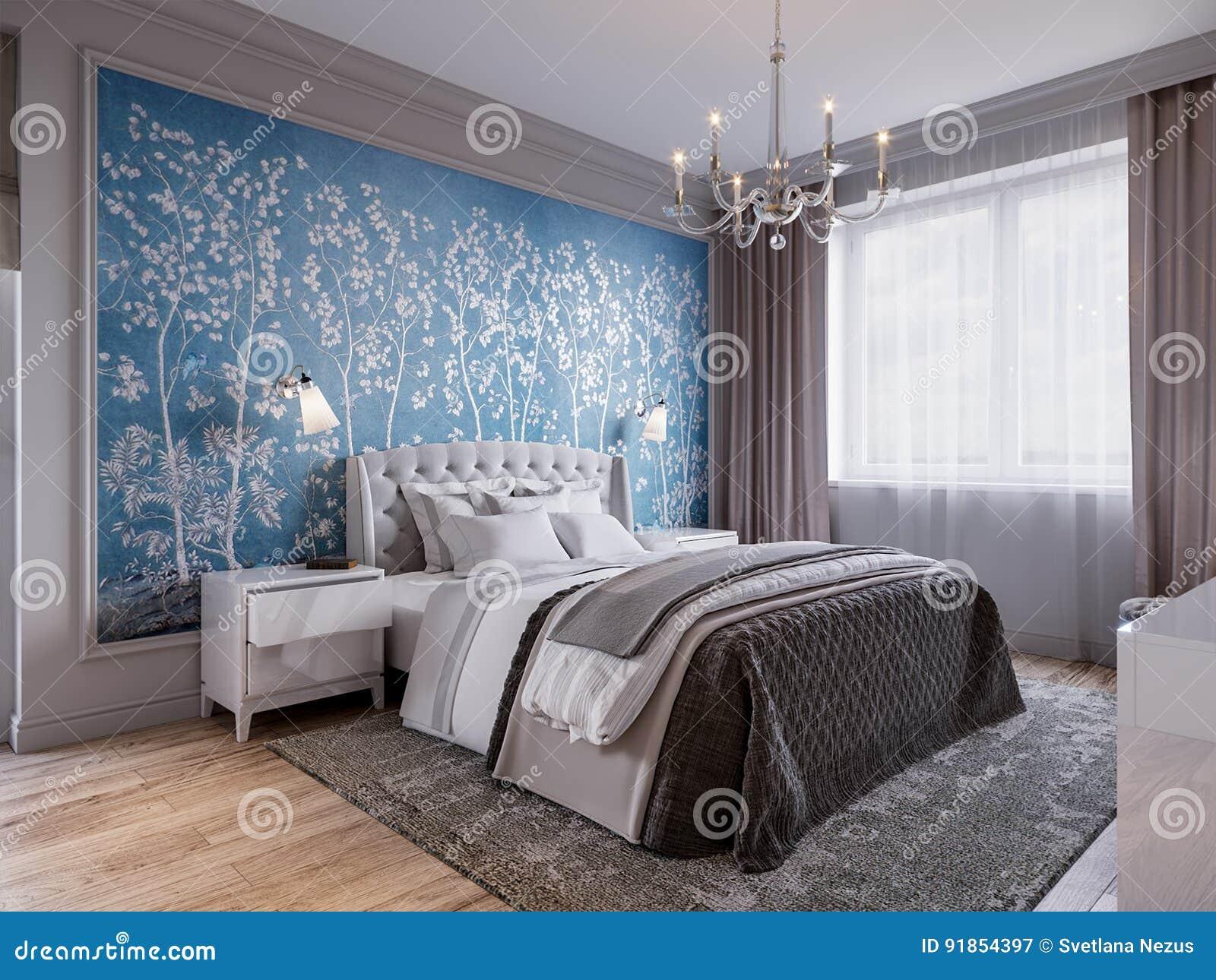 Papier Peint Chambre Moderne conception intérieure de chambre à coucher moderne avec les