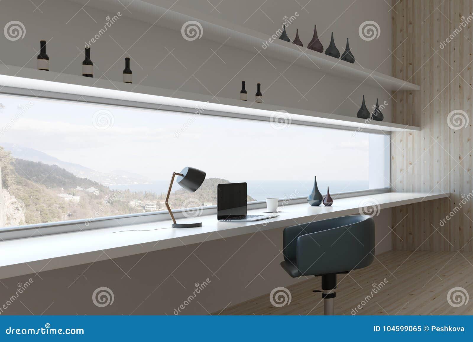 Conception intérieure de pièce futuriste