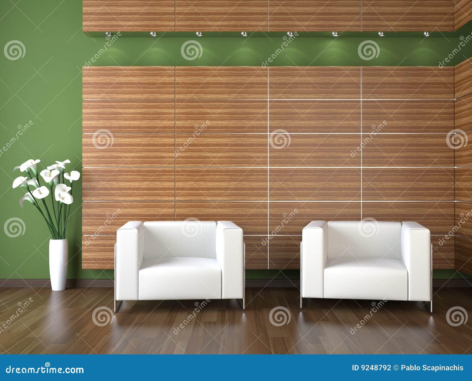 Conception intérieure de salle d attente moderne