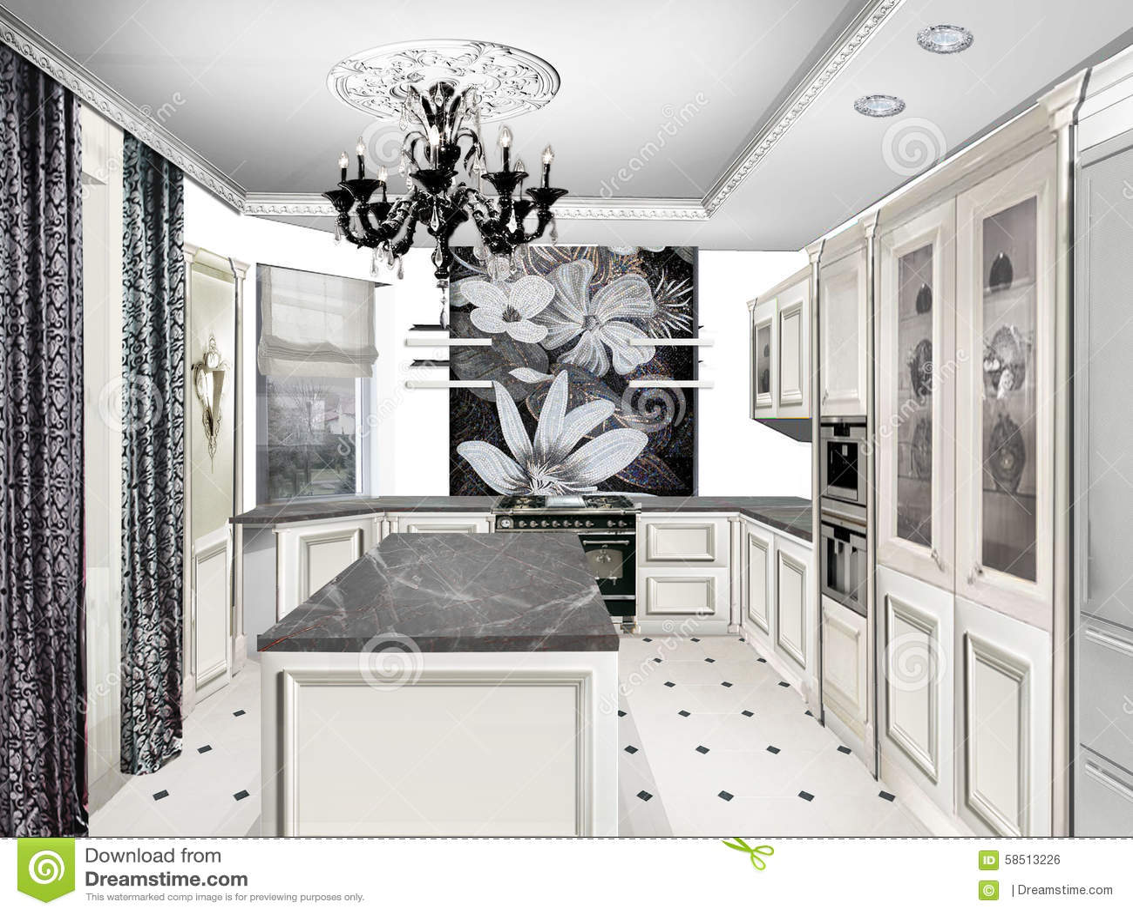 Cuisine classique blanche table de cuisine classique - Ecole superieure de cuisine francaise ...