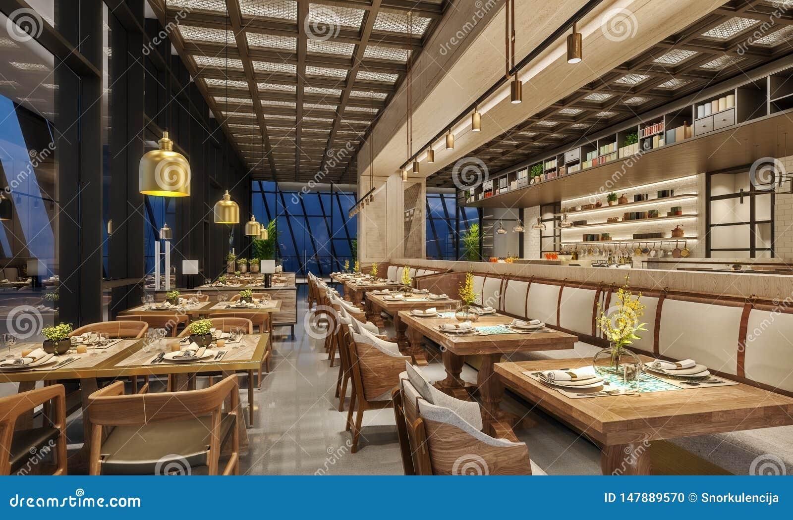 Conception Int?rieure Moderne De Salon De Restaurant, Style ...