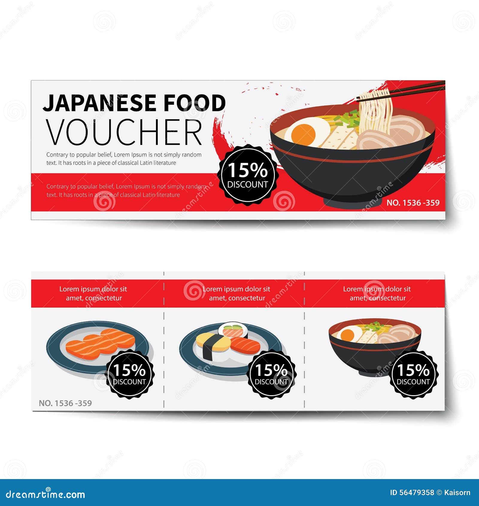 Conception japonaise de calibre de remise de bon de nourriture