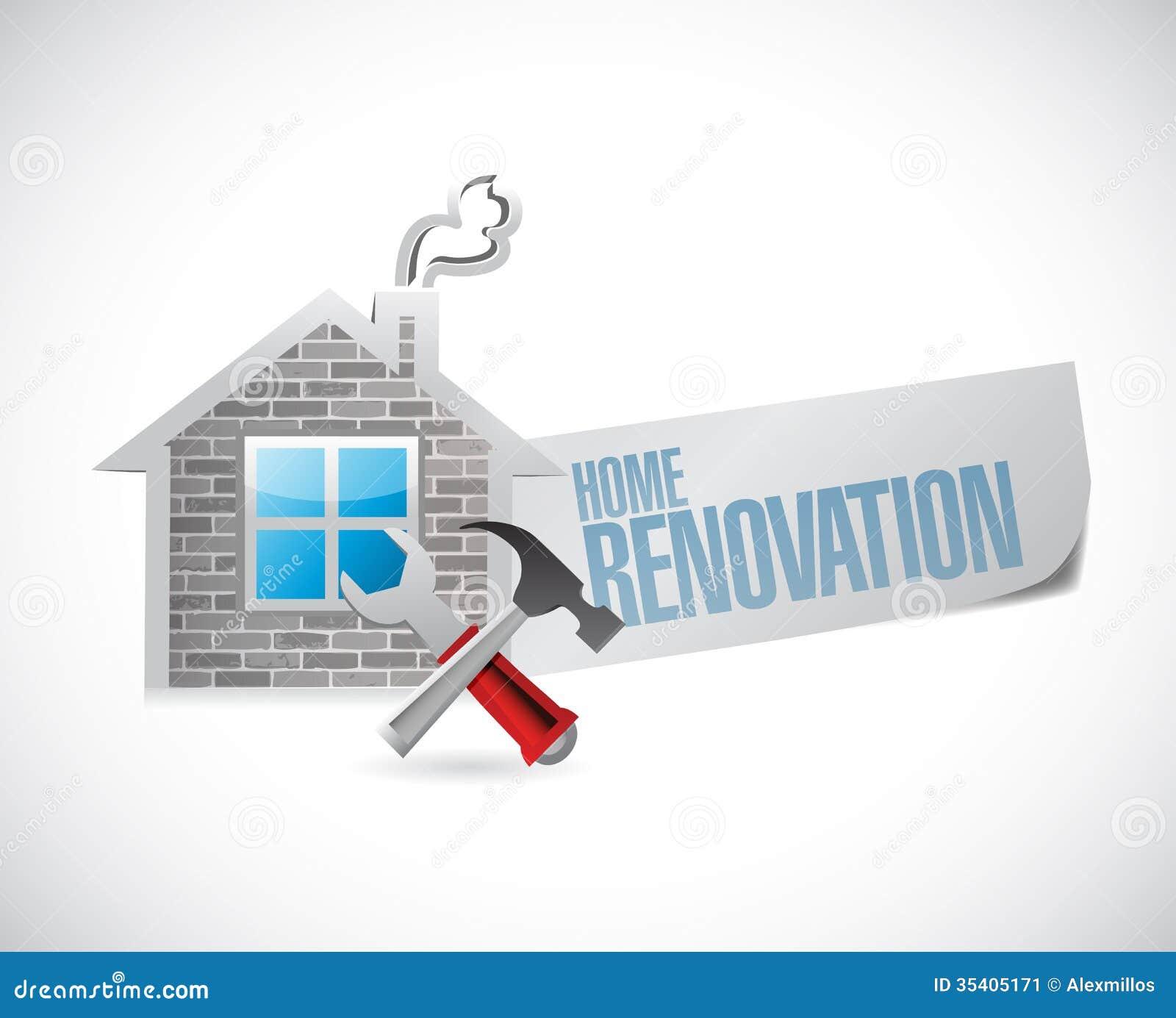 Conception la maison d illustration de symbole de r novation for Conception d architecture pour la maison