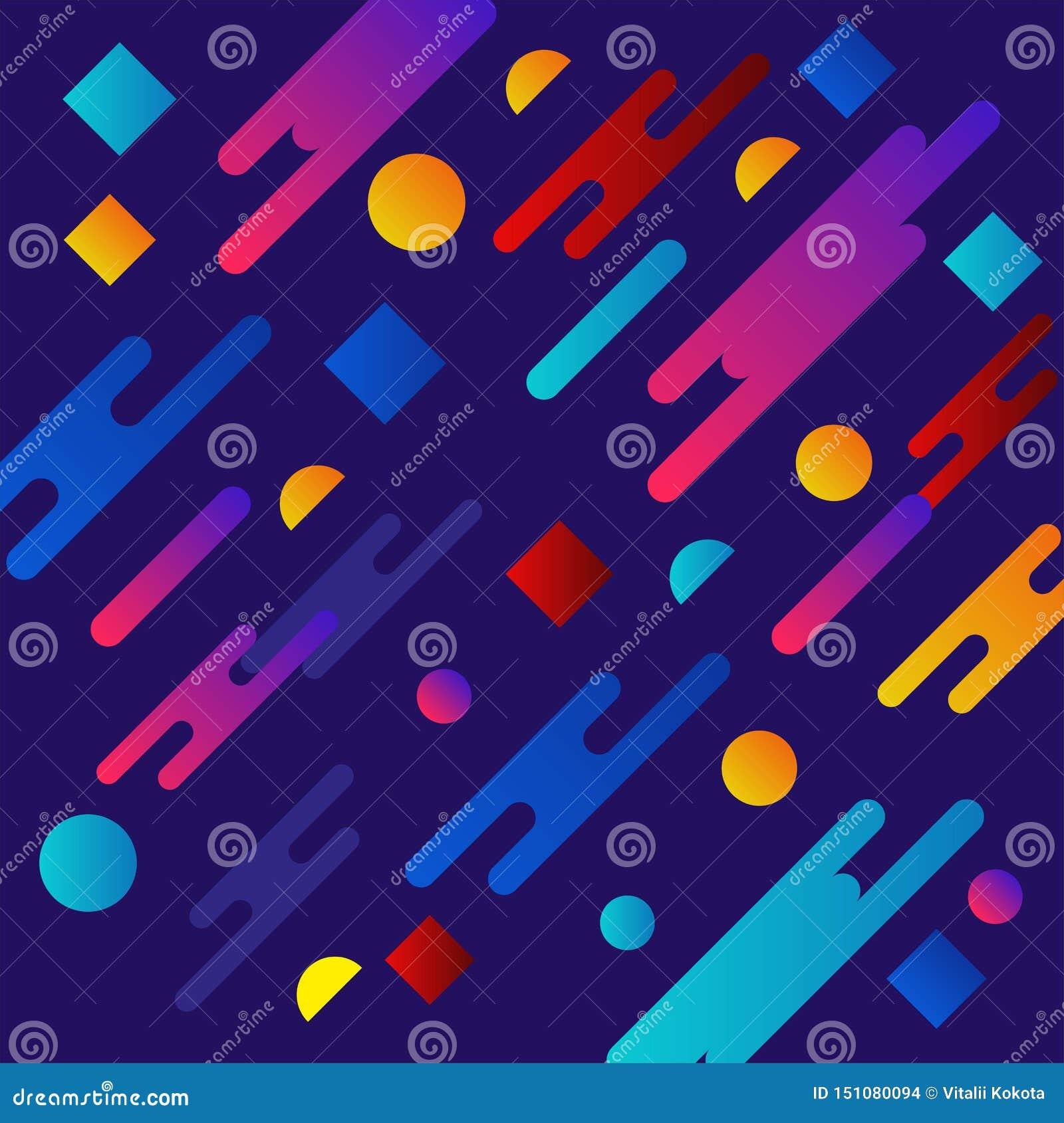 Conception liquide de fond de couleur Le gradient liquide forme la composition Affiches futuristes de conception Vecteur Eps10