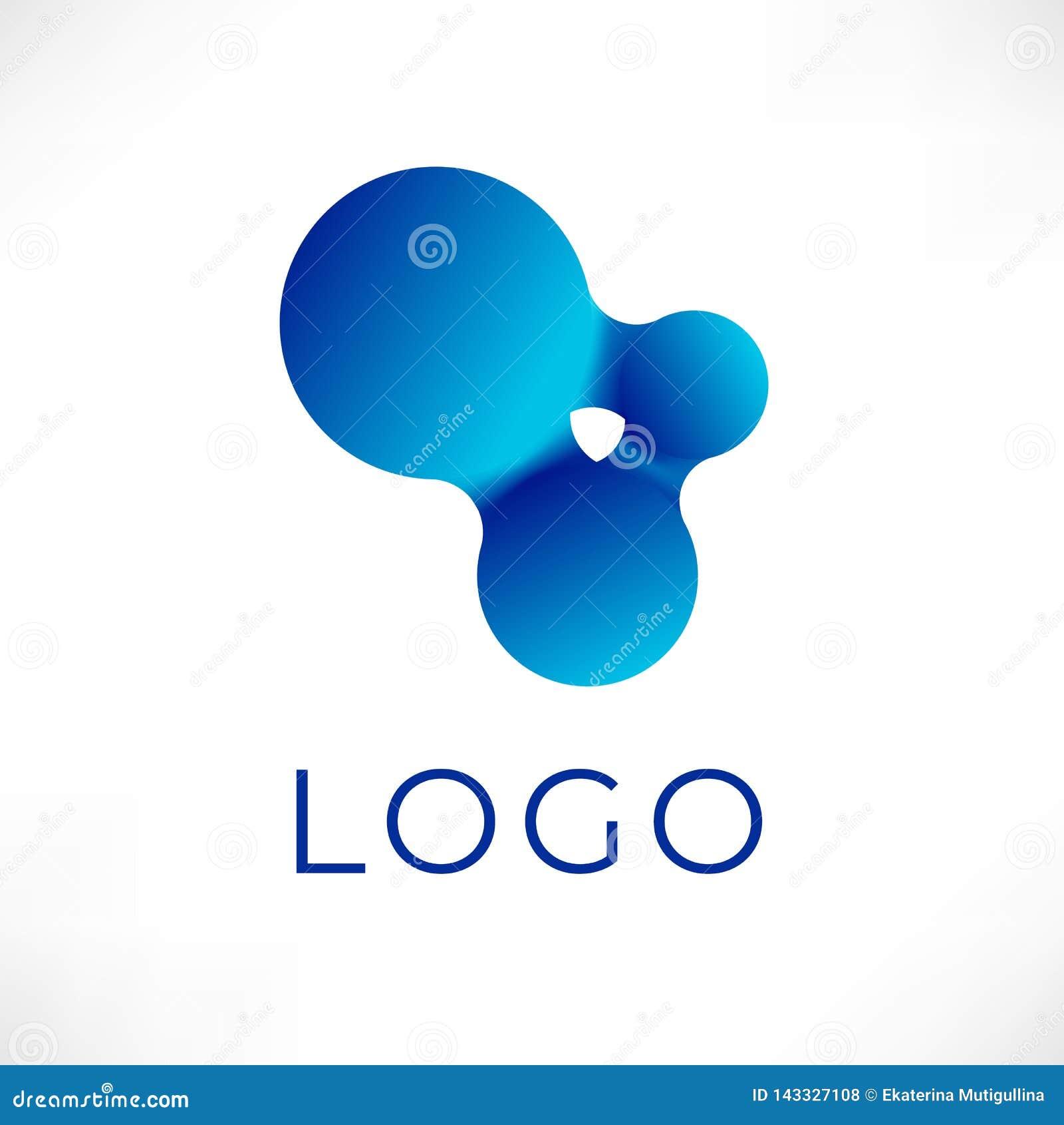 Conception liquide de logo de vecteur