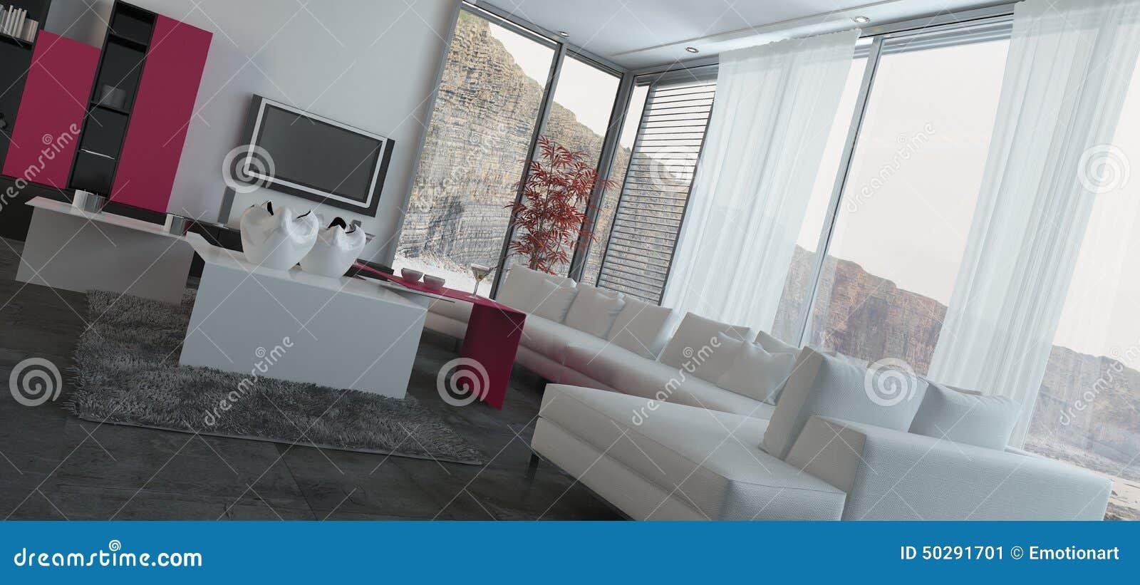 Conception meubl e de salon avec des vitraux illustration for Conseption de salon