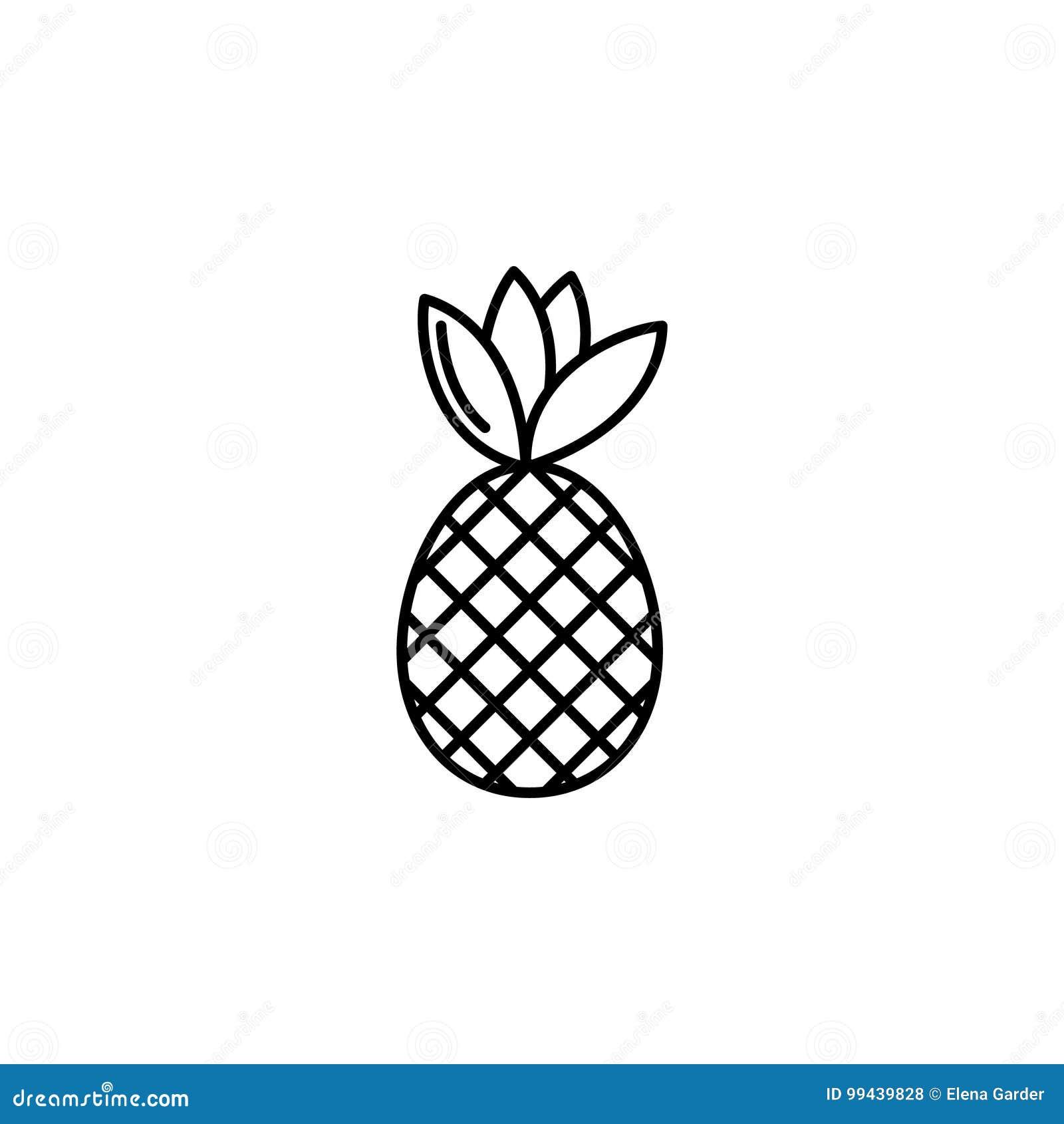 Conception Minimale De Vecteur De Signe D Ananas