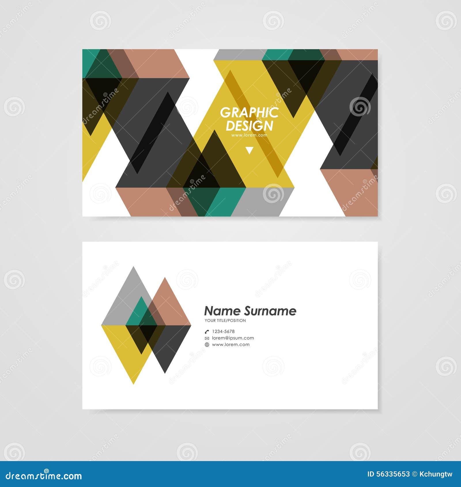 Conception Moderne De Calibre Carte Visite Professionnelle Avec Lelement Translucide Triangle
