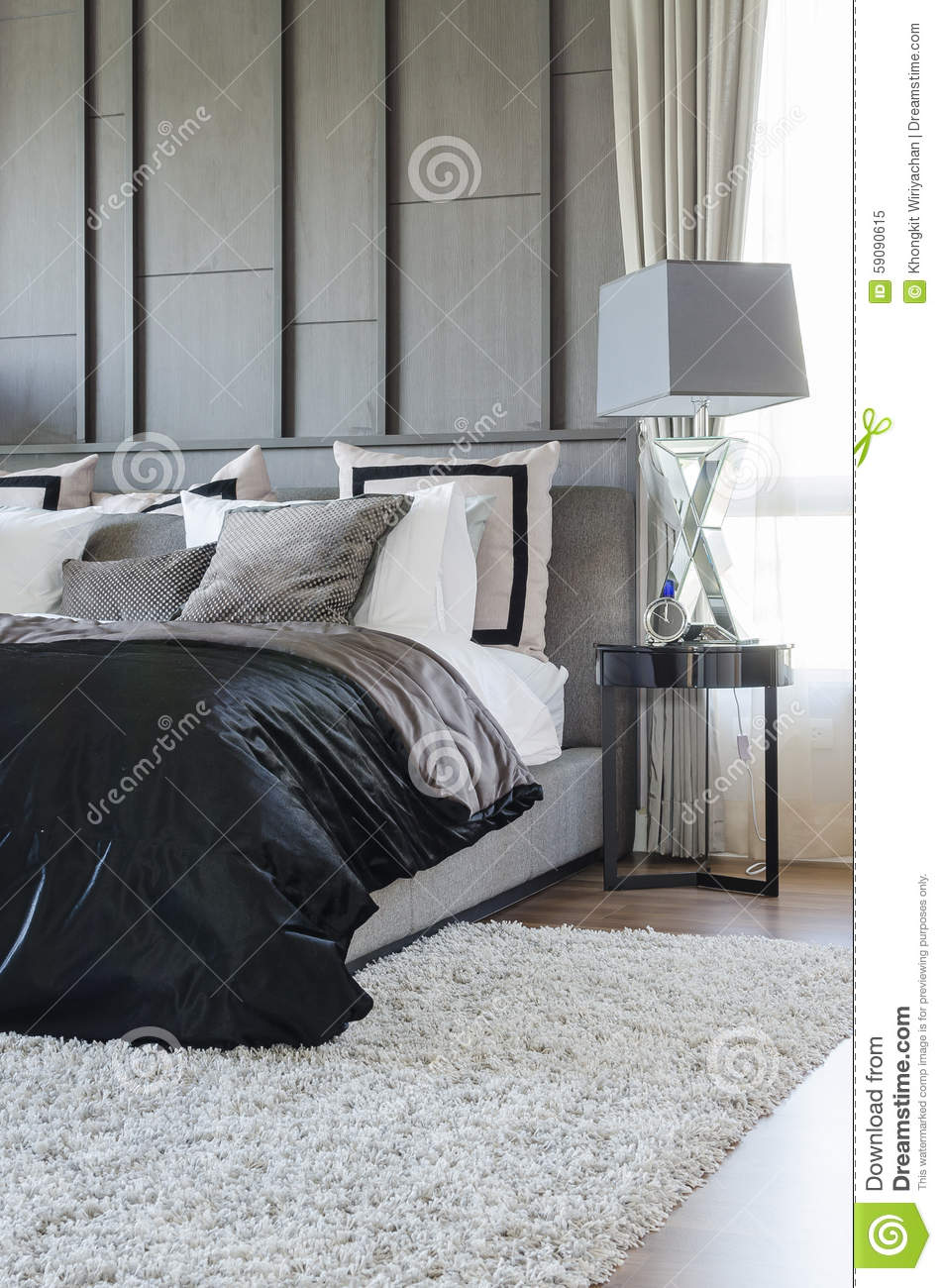 chambre a coucher moderne noir et blanc. Black Bedroom Furniture Sets. Home Design Ideas