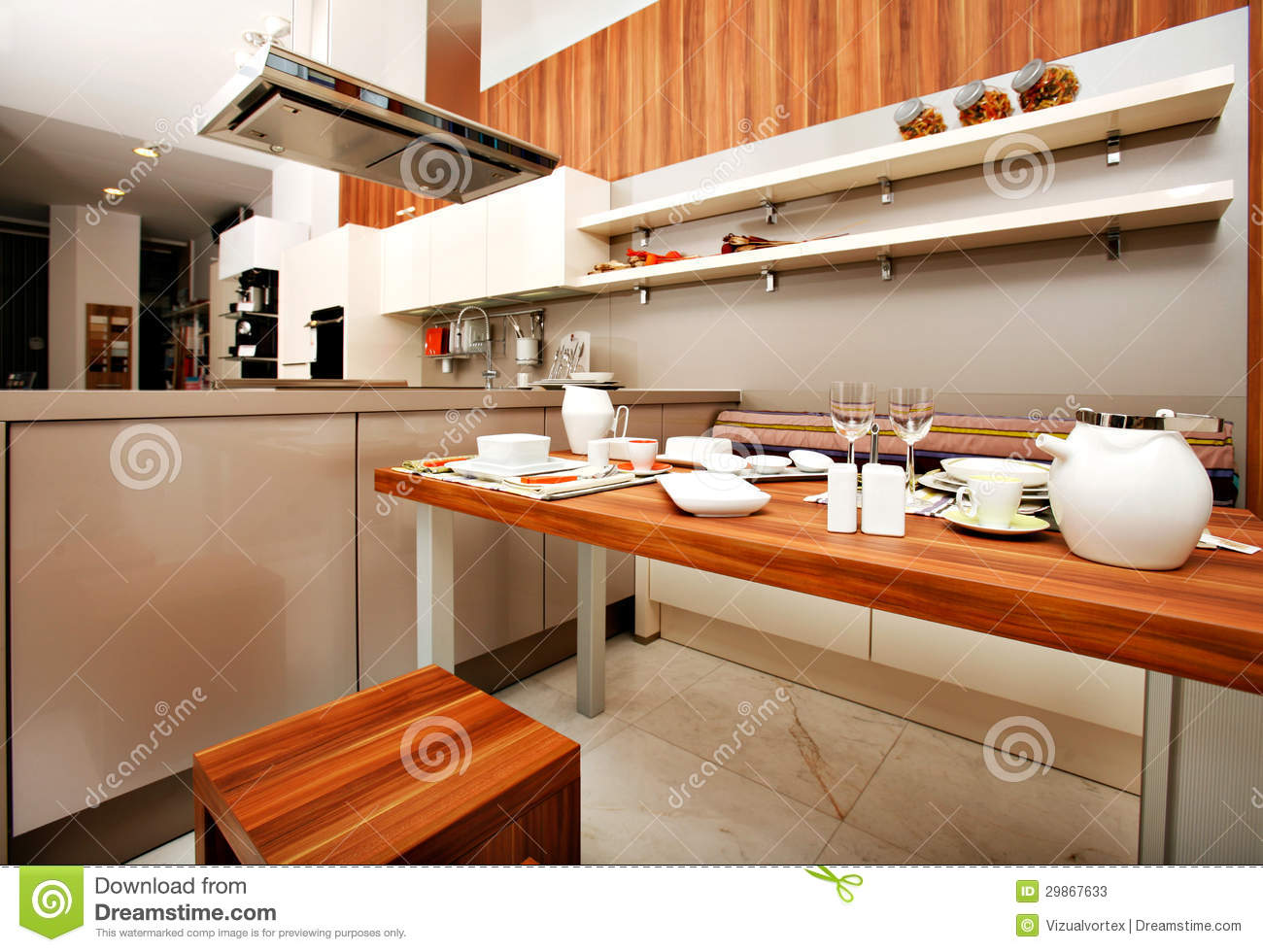Belle cuisine moderne photos stock   image: 29867633