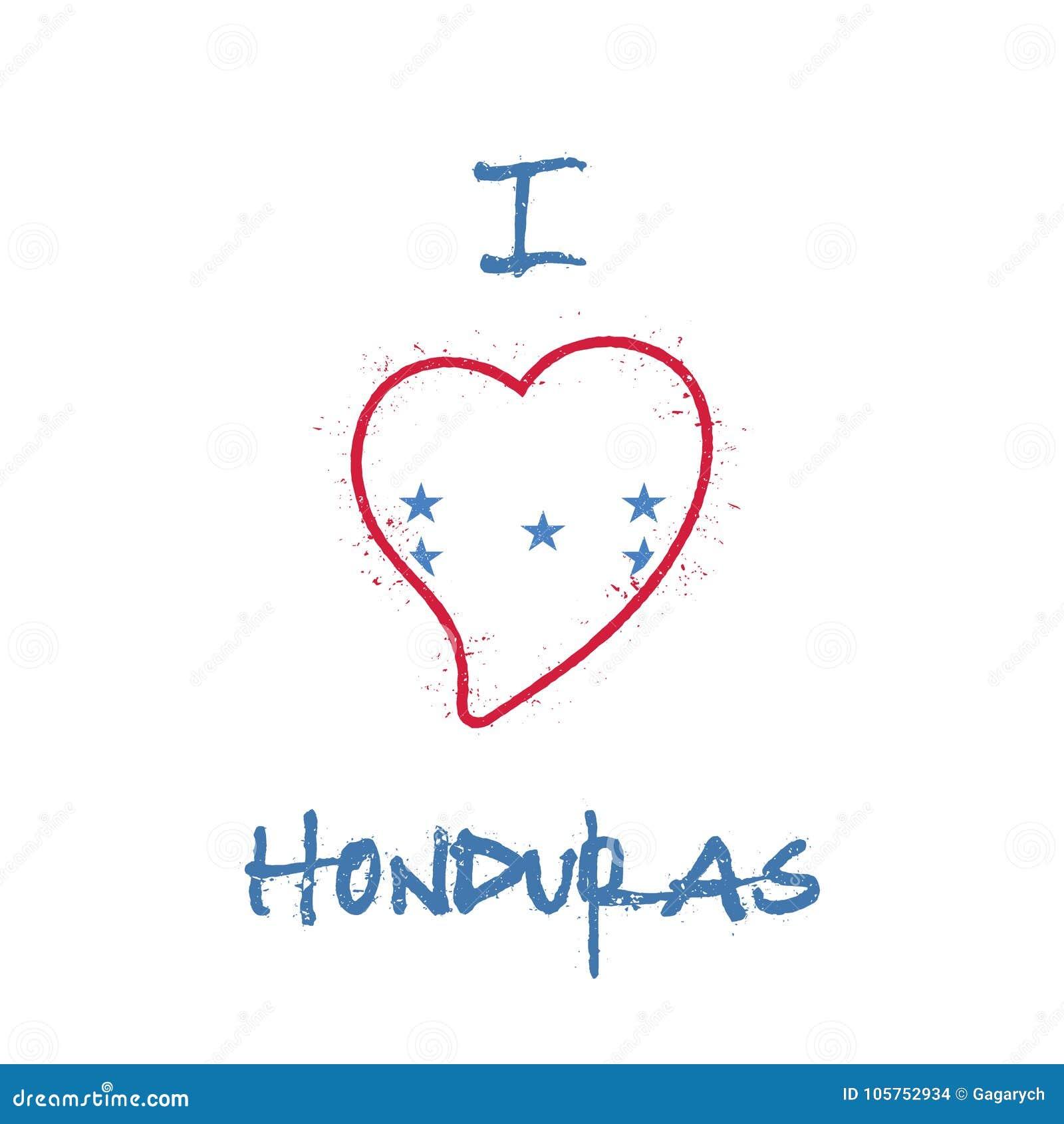 Conception patriotique de T-shirt de drapeau hondurien