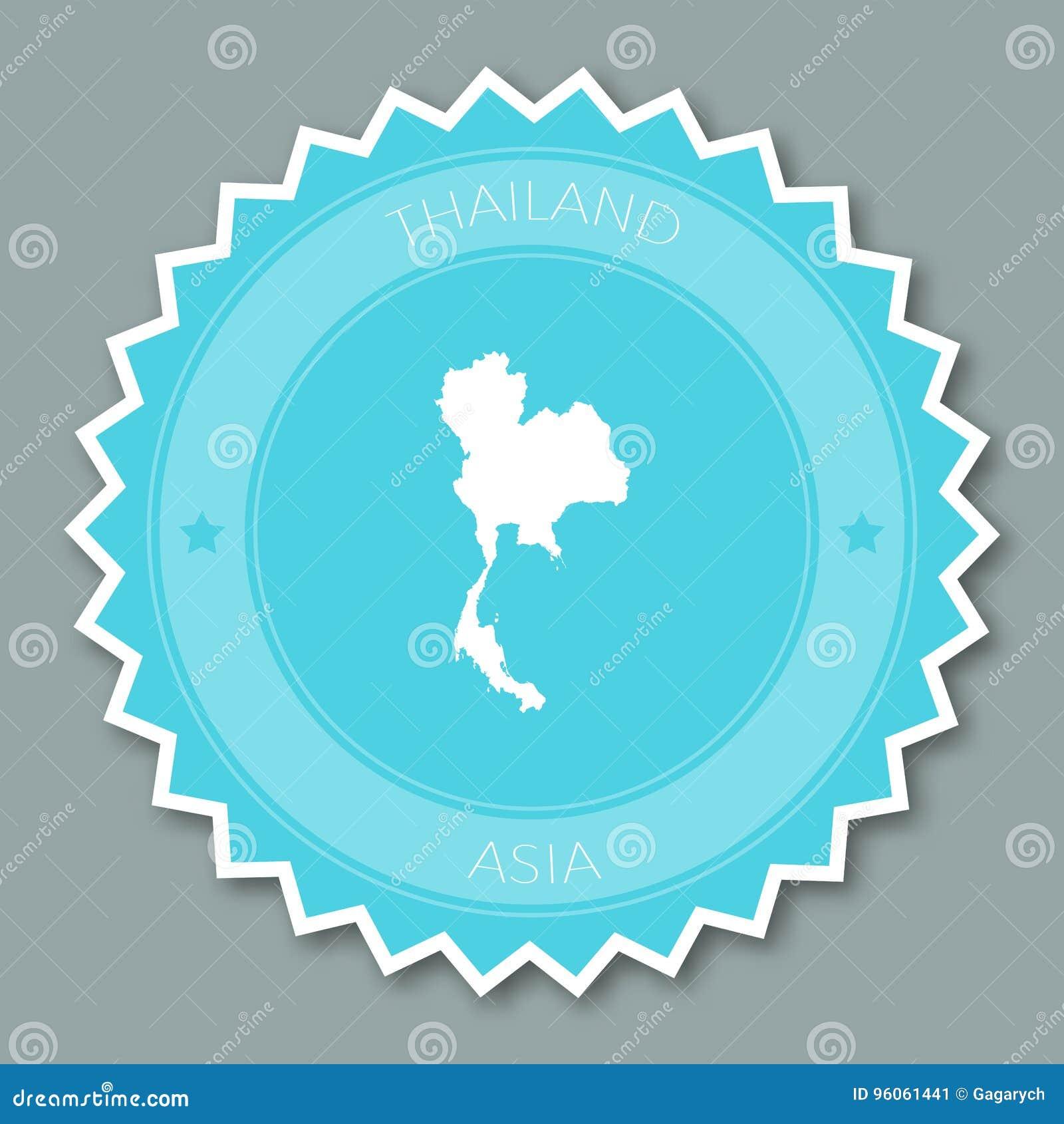 Conception plate d insigne de la Thaïlande
