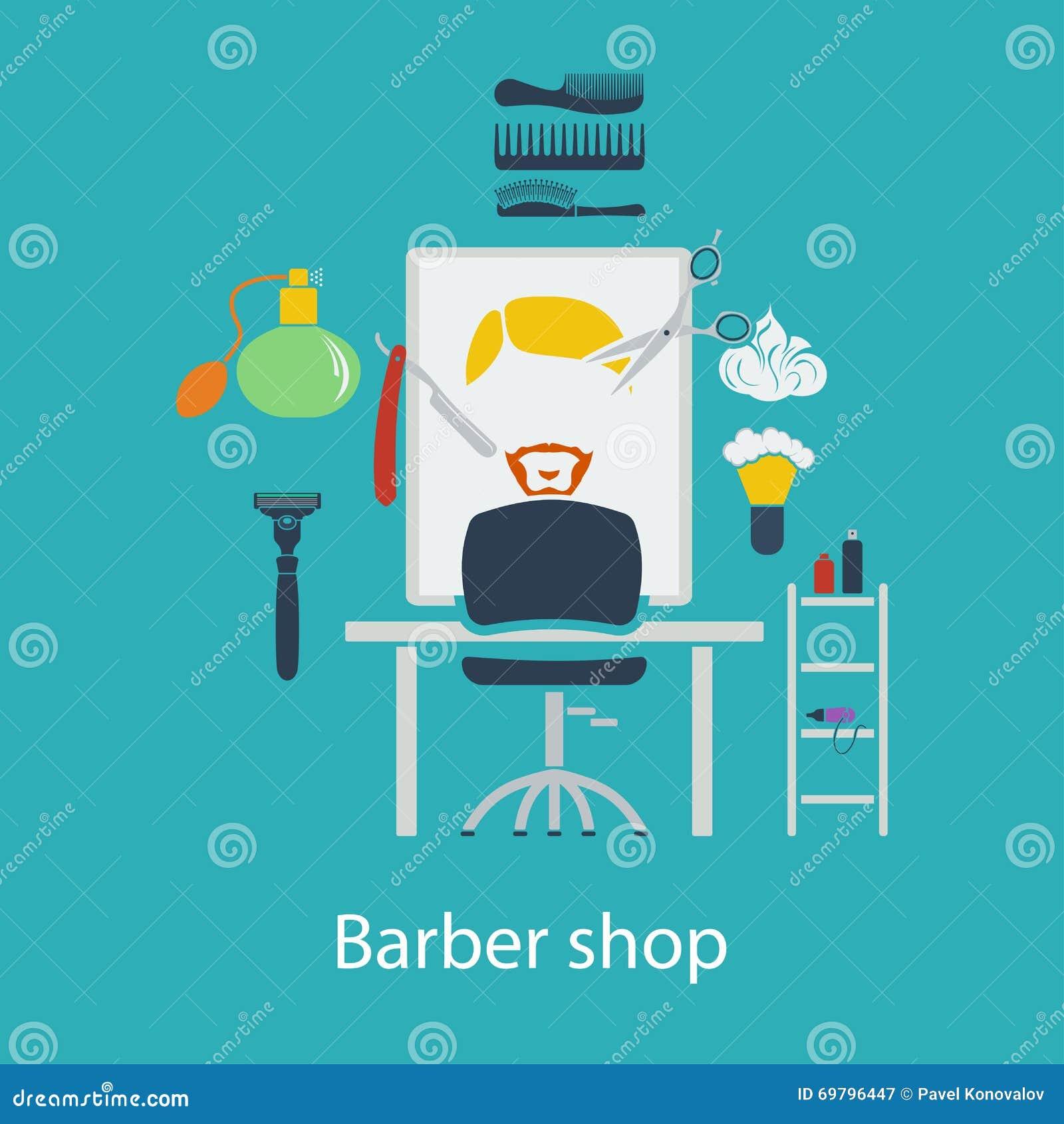 Conception plate de salon de coiffure illustration de for Outil de conception salon