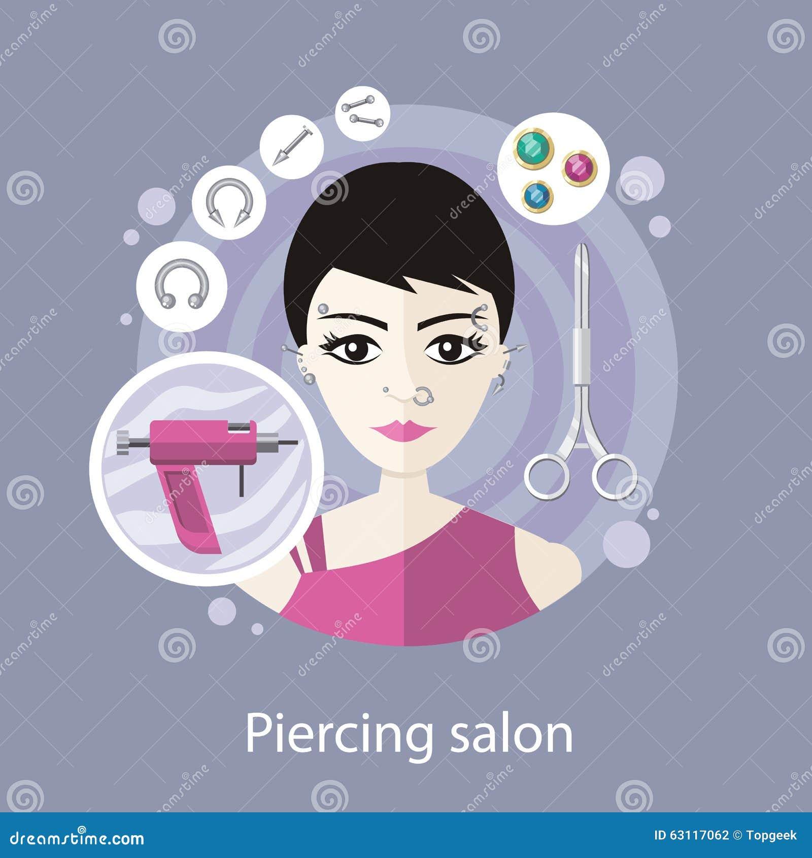 Conception plate de style de salon piercing illustration for Outil de conception salon
