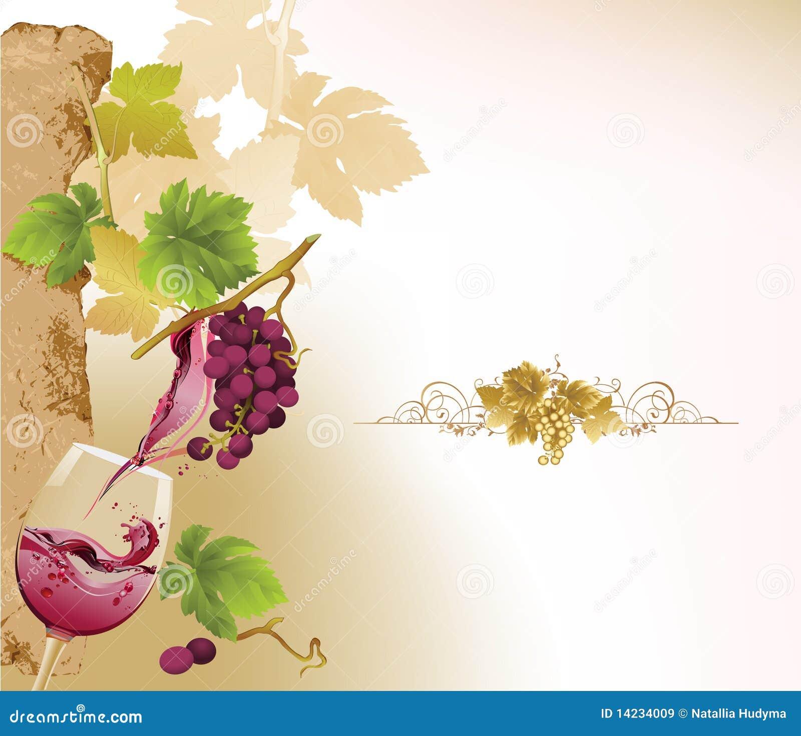 Conception pour la liste de vin.