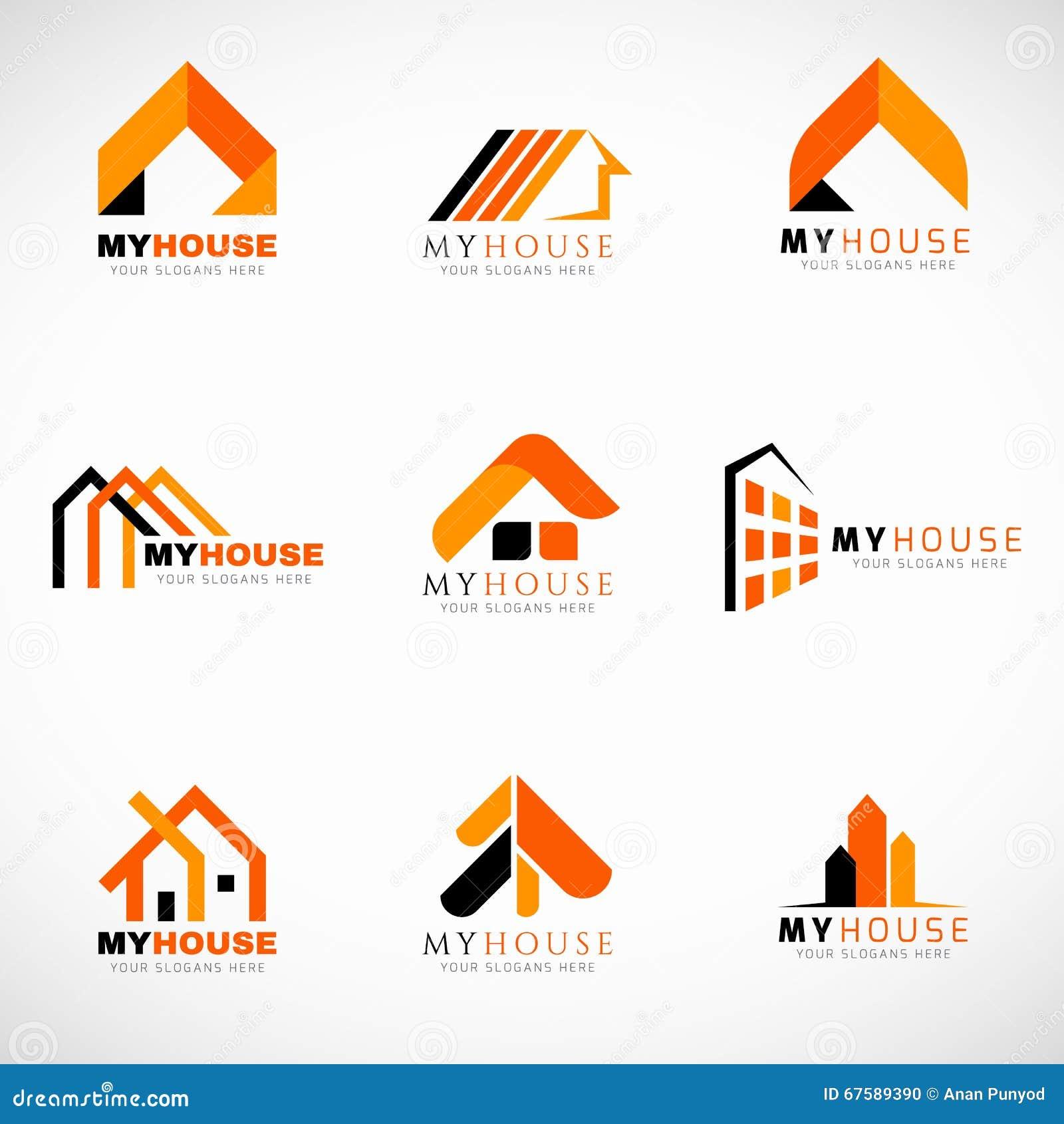 Conception Réglée De Vecteur De Logo Orange Et Noir De Chambre ...
