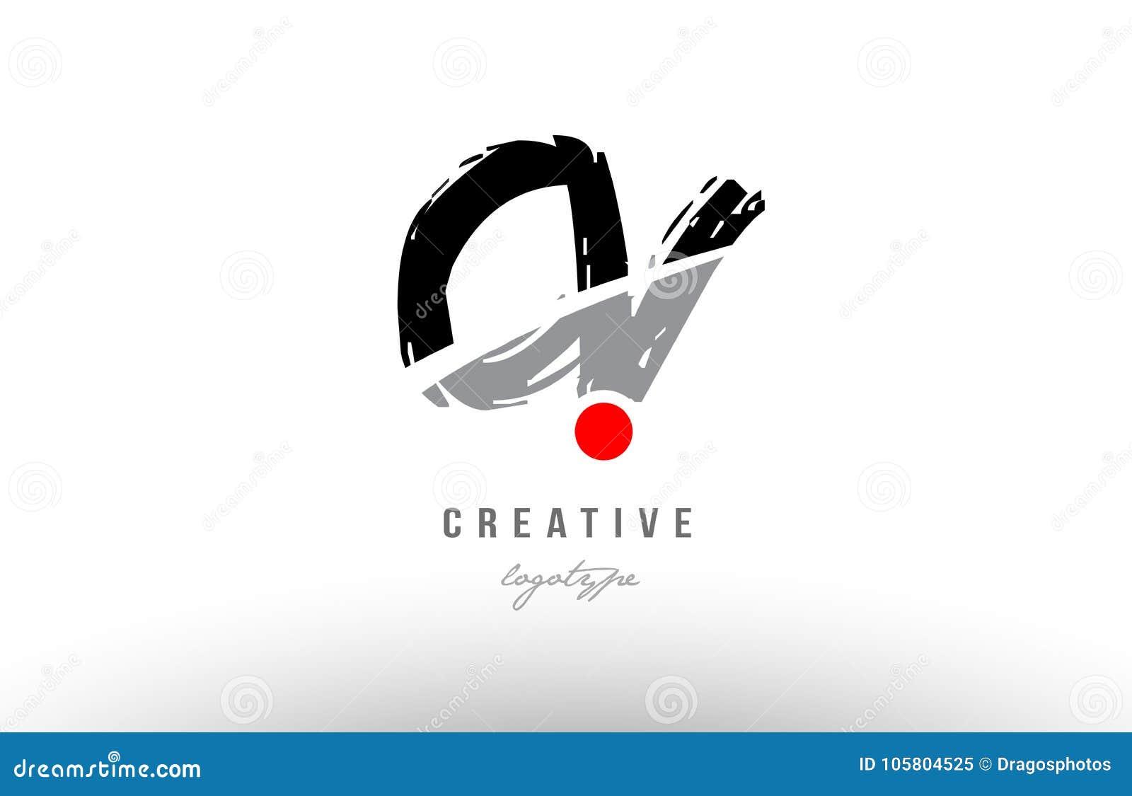 conception rouge grunge de combinaison de logo de lettre d u0026 39 alphabet de cv c v de point